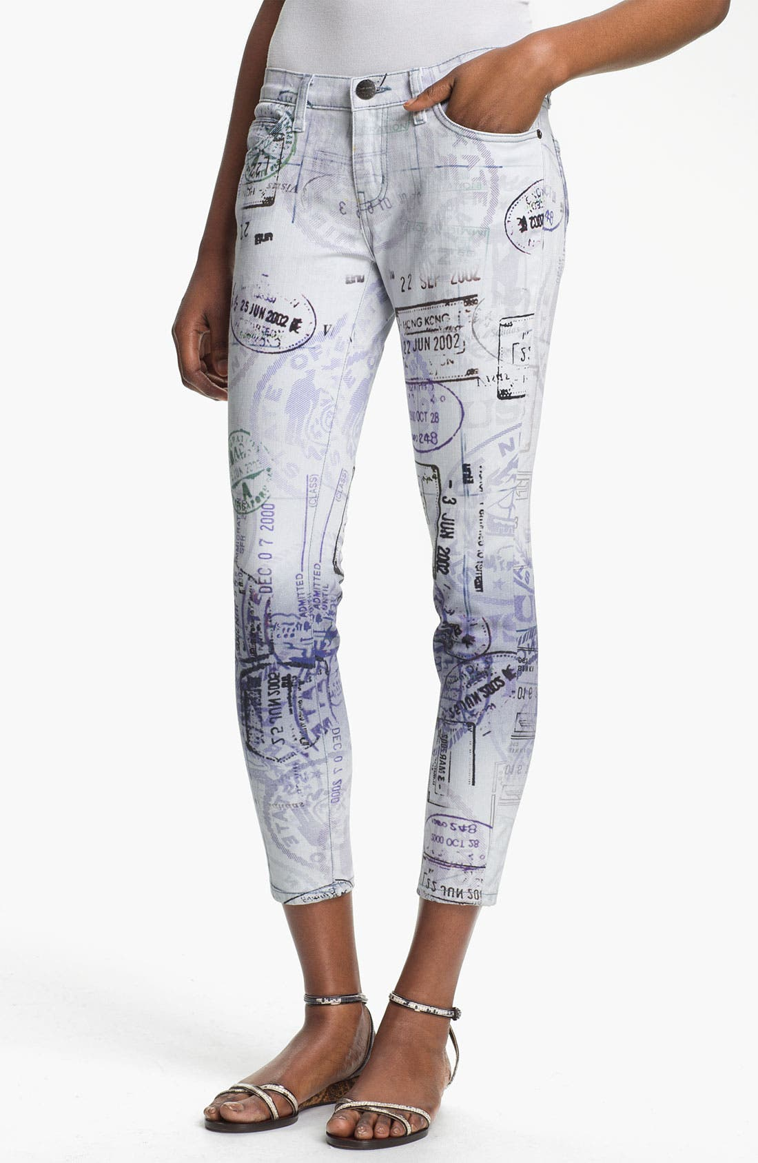 Alternate Image 1 Selected - Mary Katrantzou Current/Elliott 'The Printed Stiletto' Jeans