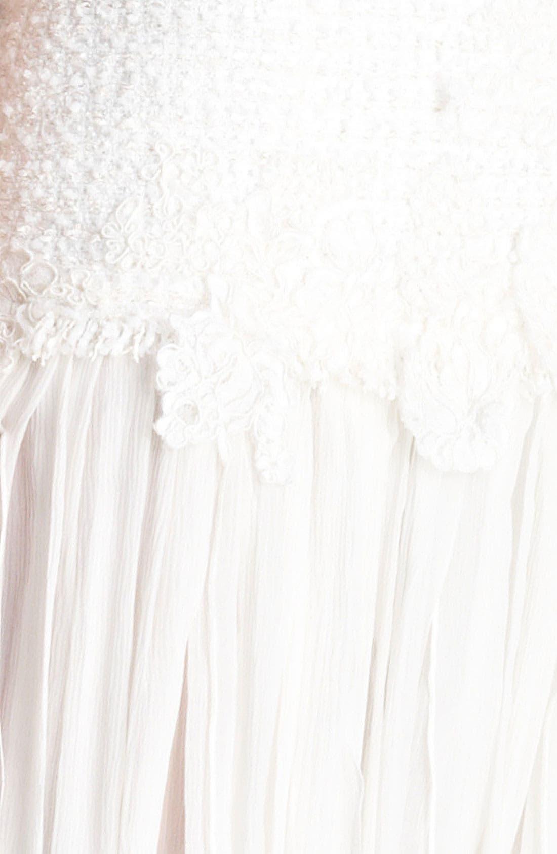 Alternate Image 3  - Oscar de la Renta Chiffon Dress