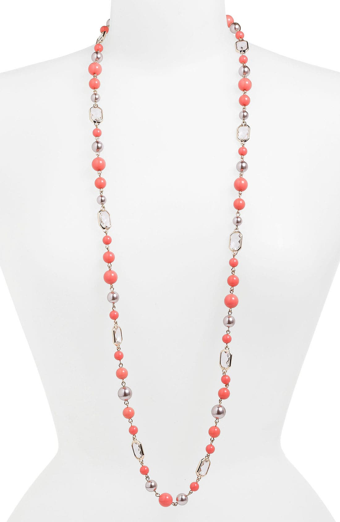 Alternate Image 2  - Anne Klein Long Station Necklace