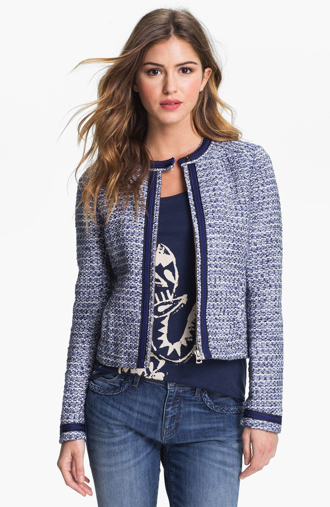 Alternate Image 1 Selected - Lucky Brand 'Trippet' Bouclé Jacket (Online Exclusive)