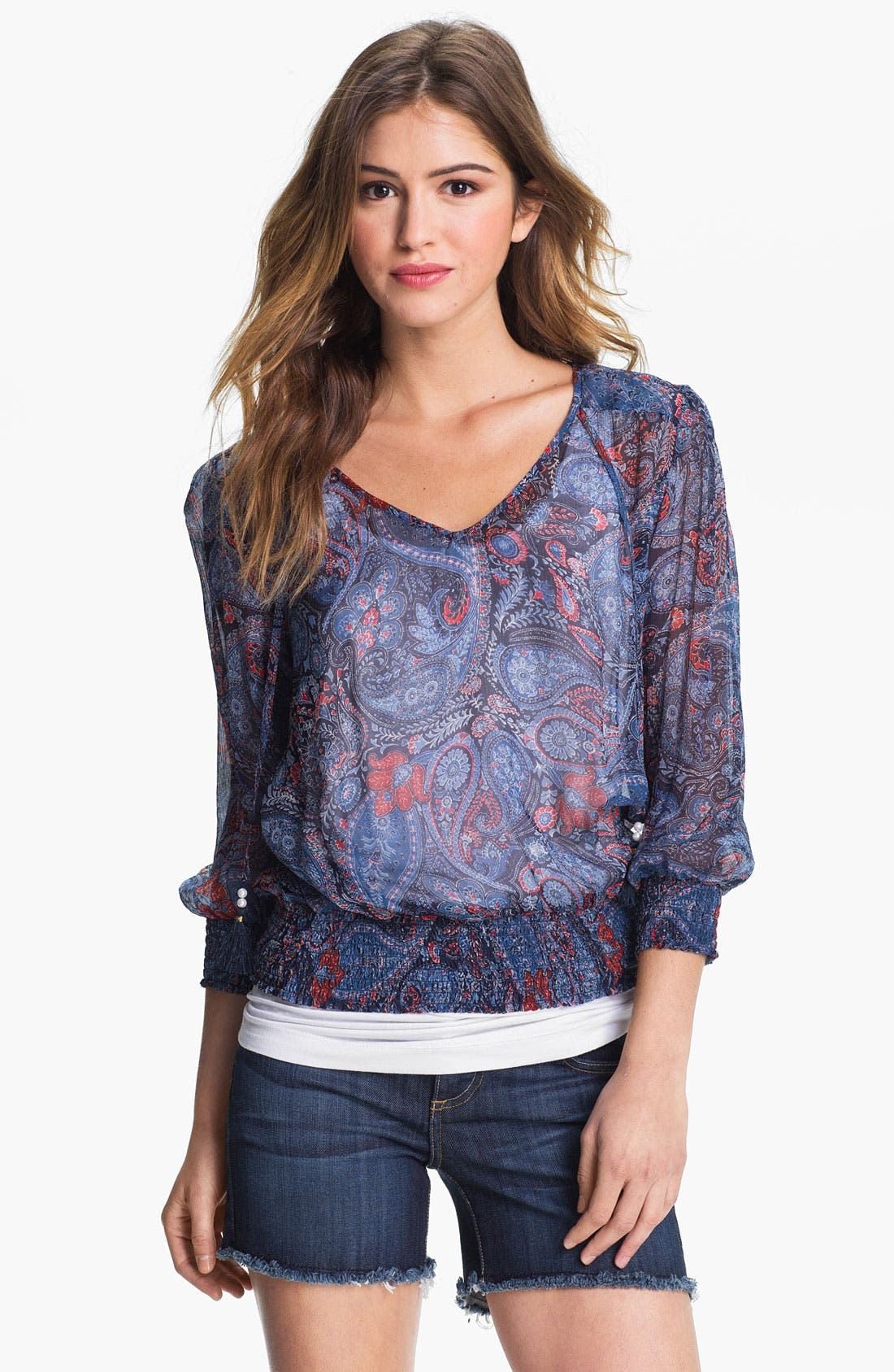 Alternate Image 1 Selected - Lucky Brand 'Palisades Zuniga' Paisley Blouse