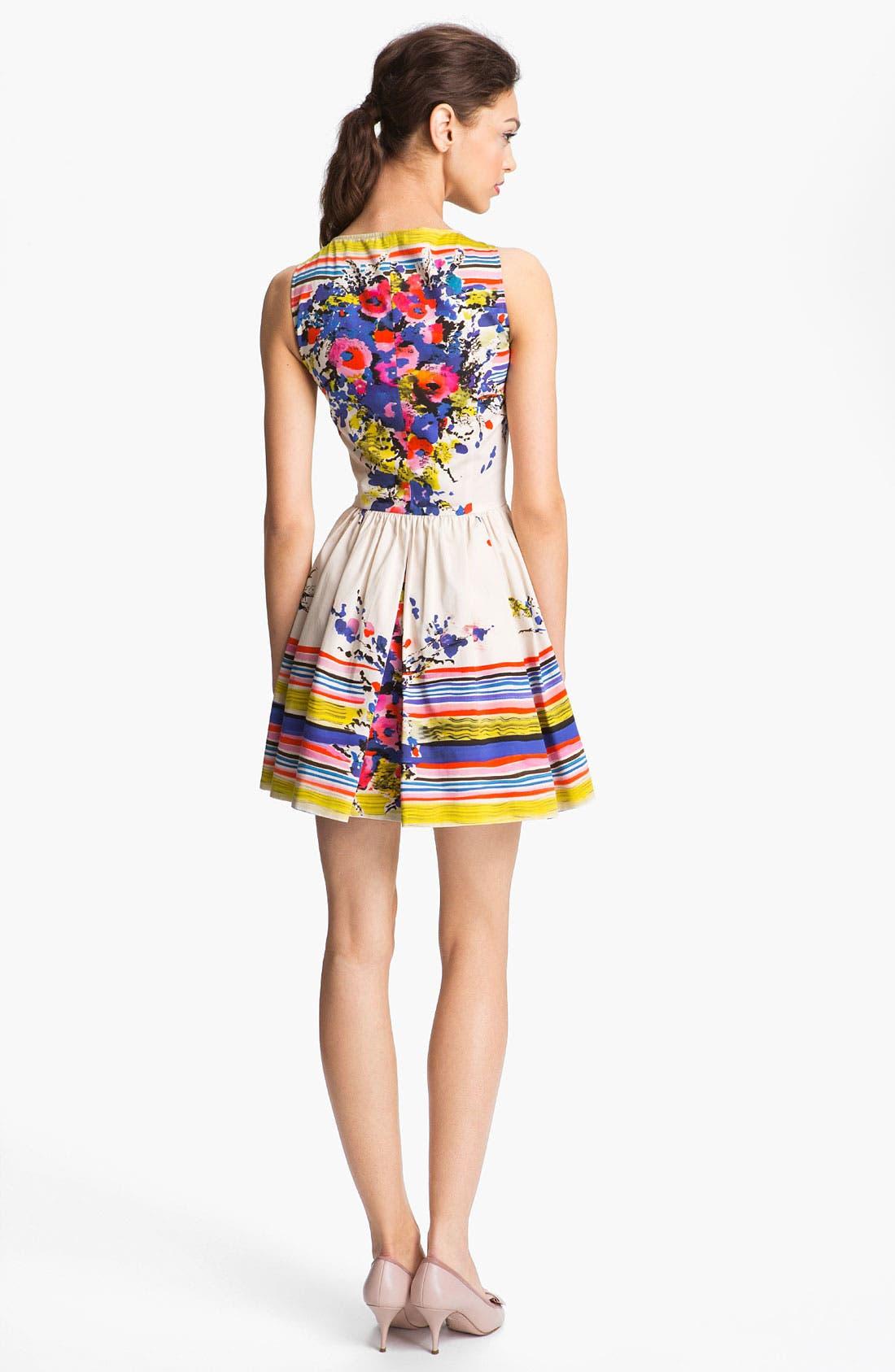 Alternate Image 2  - RED Valentino Bouquet Print Dress