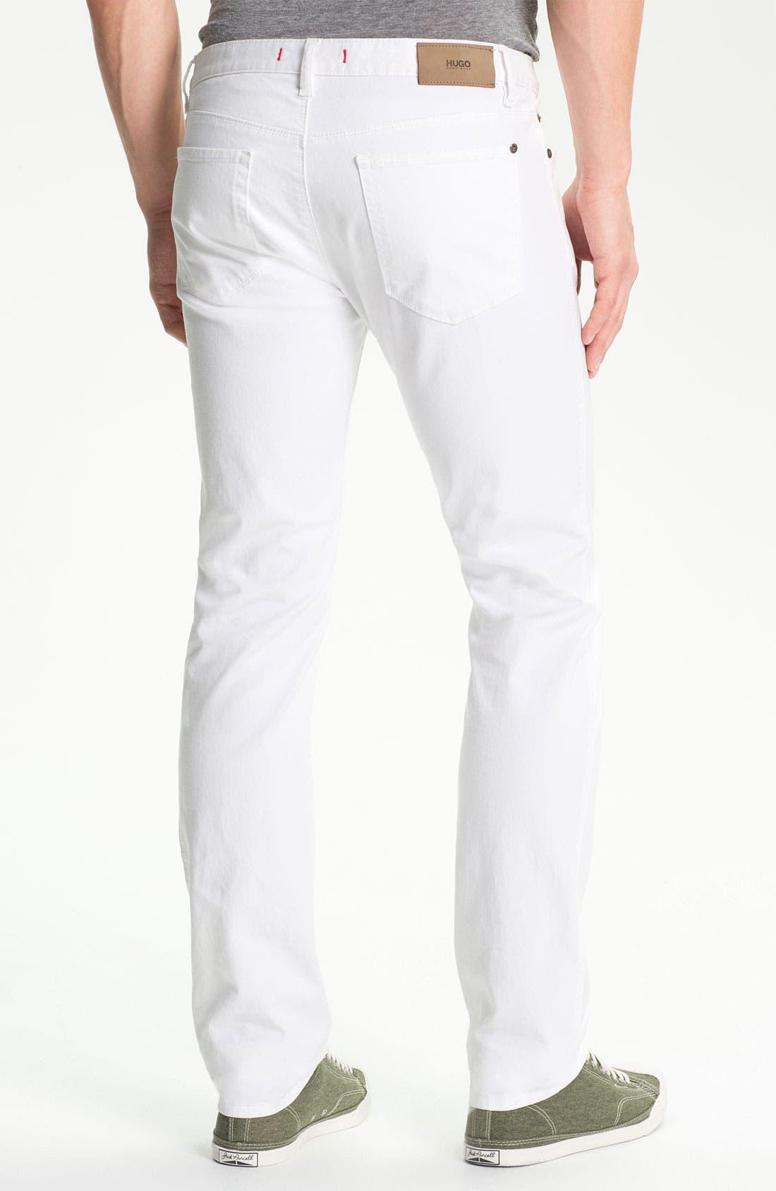 Alternate Image 2  - HUGO '708' Slim Straight Jeans