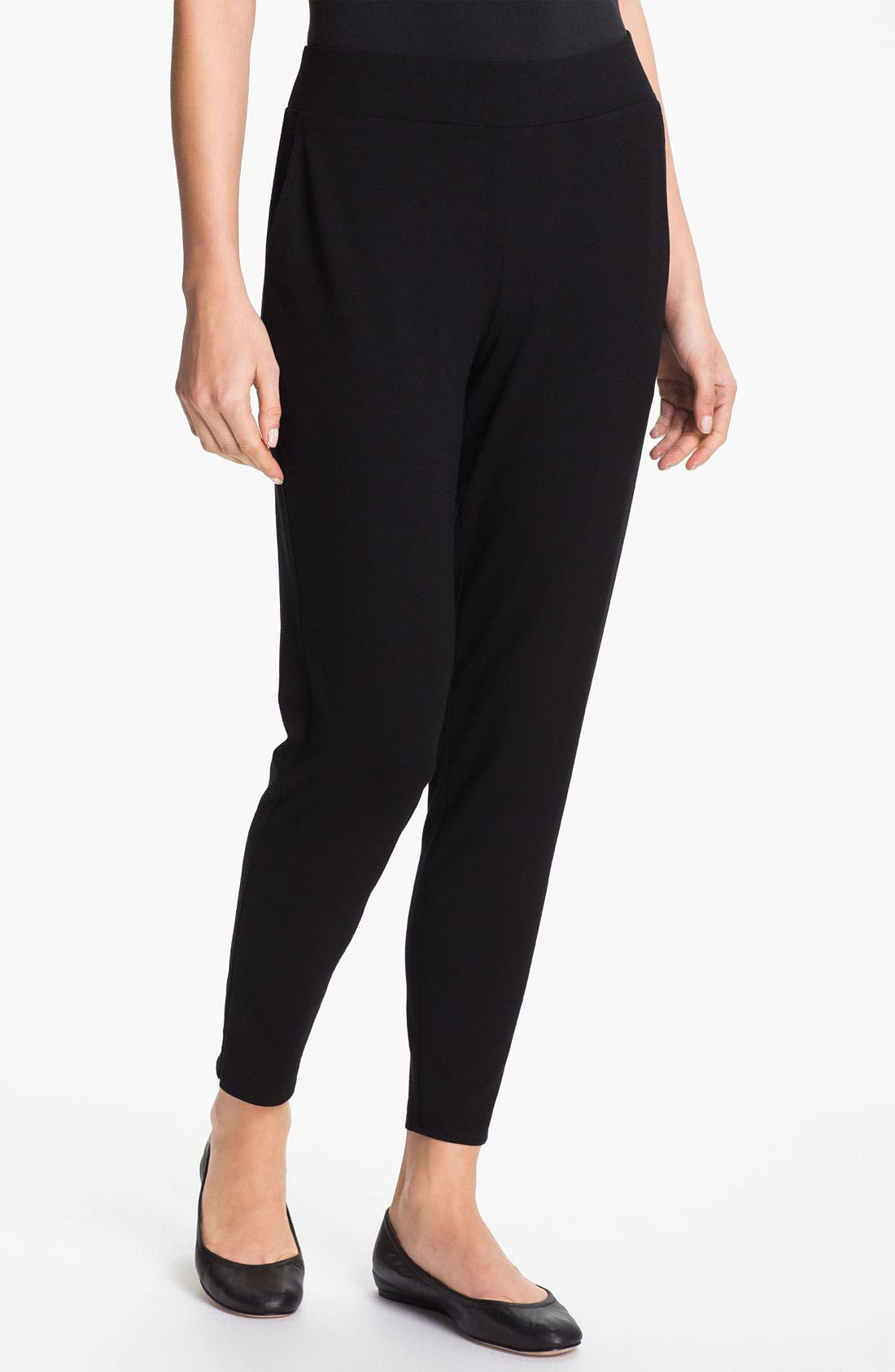 Alternate Image 1 Selected - Eileen Fisher Slouchy Tapered Pants (Regular & Petite)