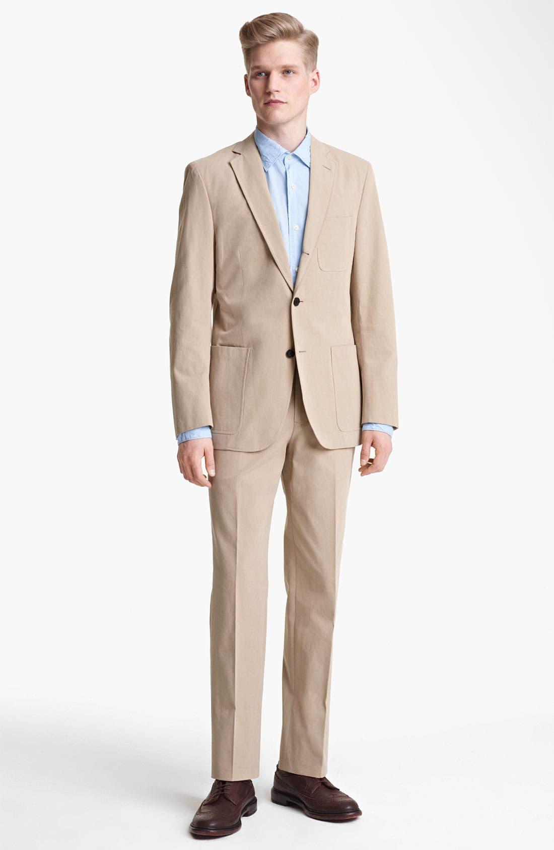 Alternate Image 2  - Billy Reid 'Campbell' Cotton Suit