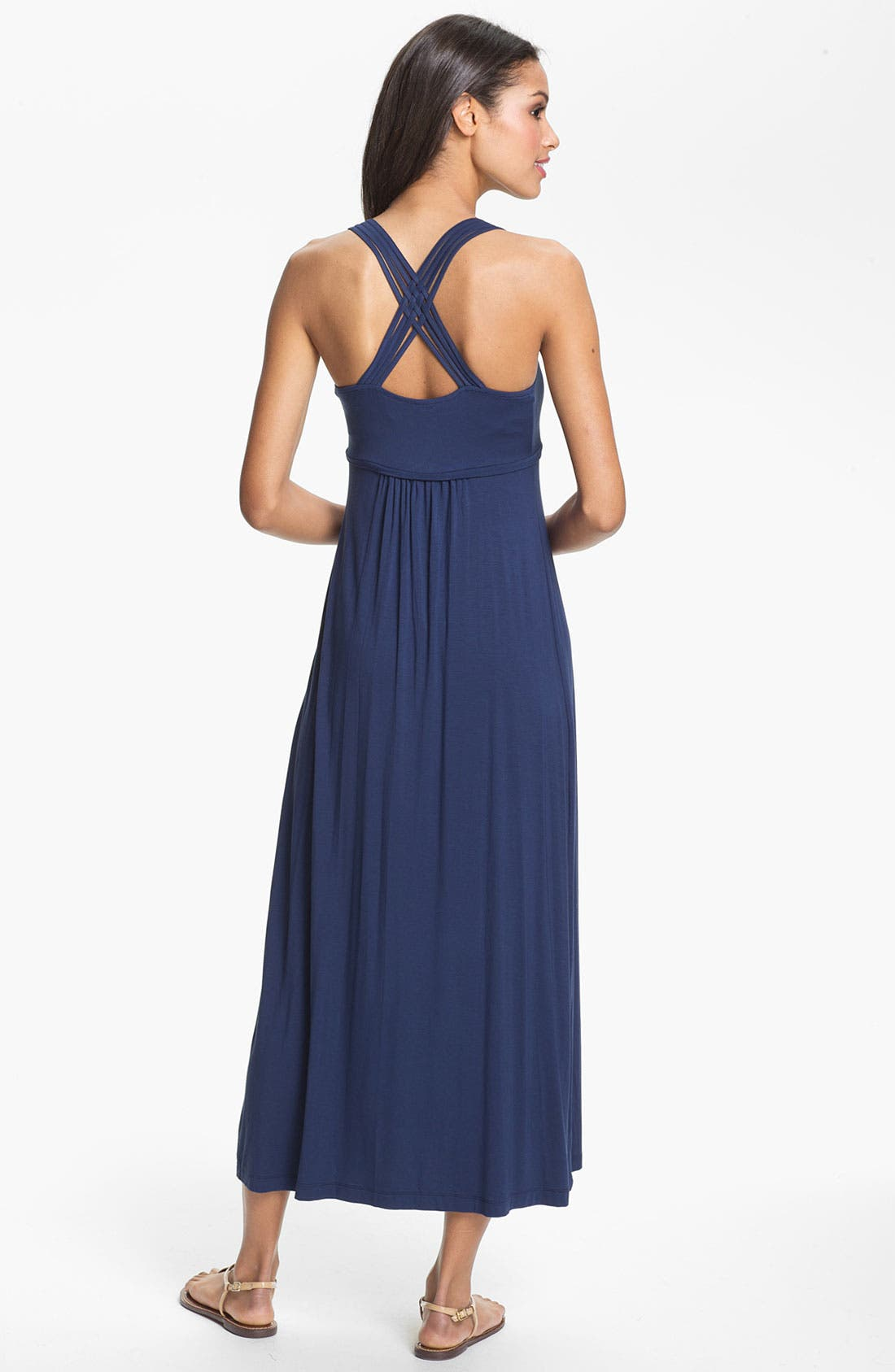 Alternate Image 2  - Calvin Klein Cross Back Maxi Dress