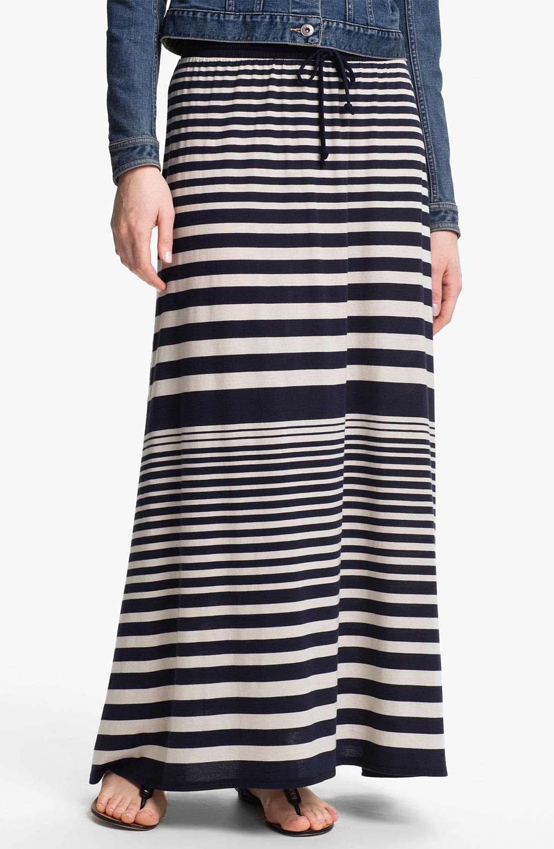 Alternate Image 1 Selected - Two by Vince Camuto Nautical Stripe Maxi Skirt