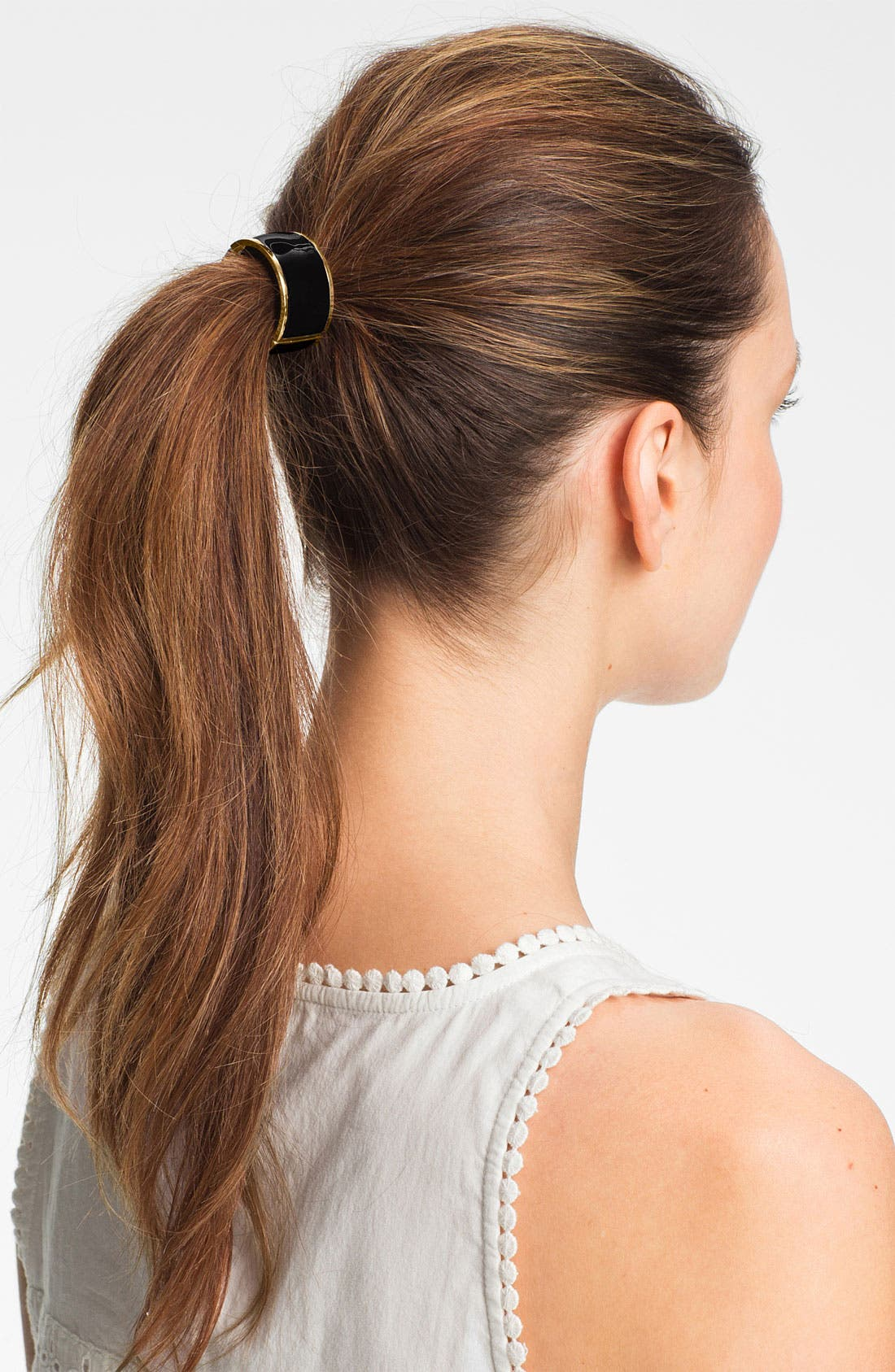 Alternate Image 1 Selected - L. Erickson 'Atelier' Enamel Cuff Ponytail Holder