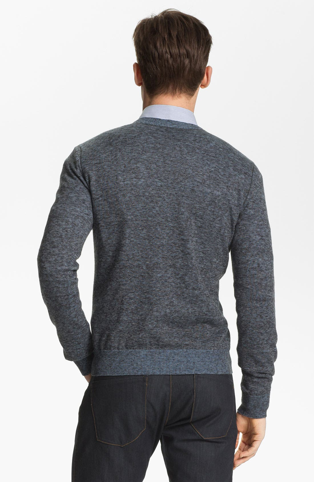 Alternate Image 2  - Theory 'Riland CP. Orb' Crewneck Linen Blend Sweater
