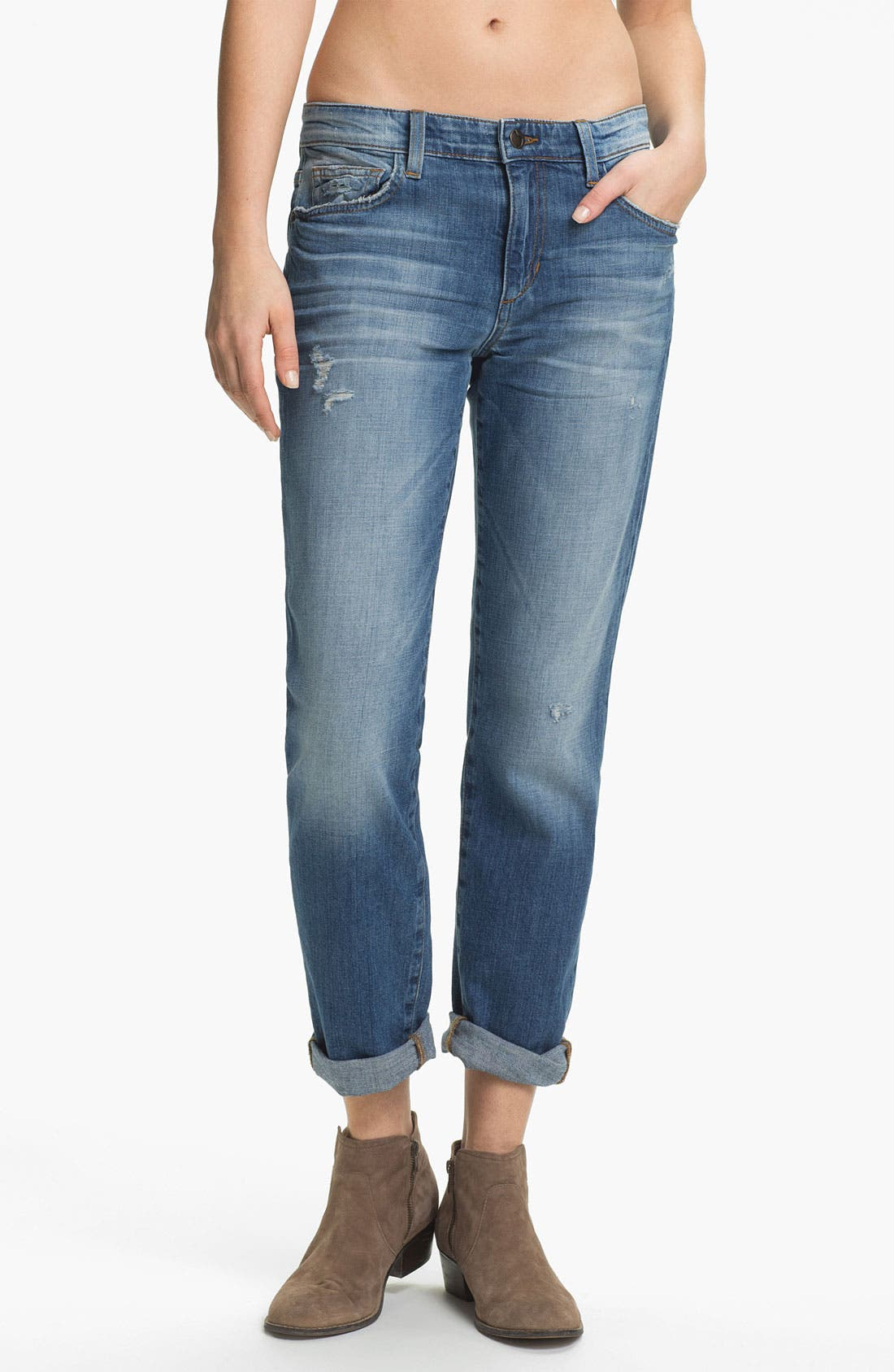 Alternate Image 1 Selected - Joe's 'Easy Highwater' Relaxed Stretch Denim Jeans (Mazy)