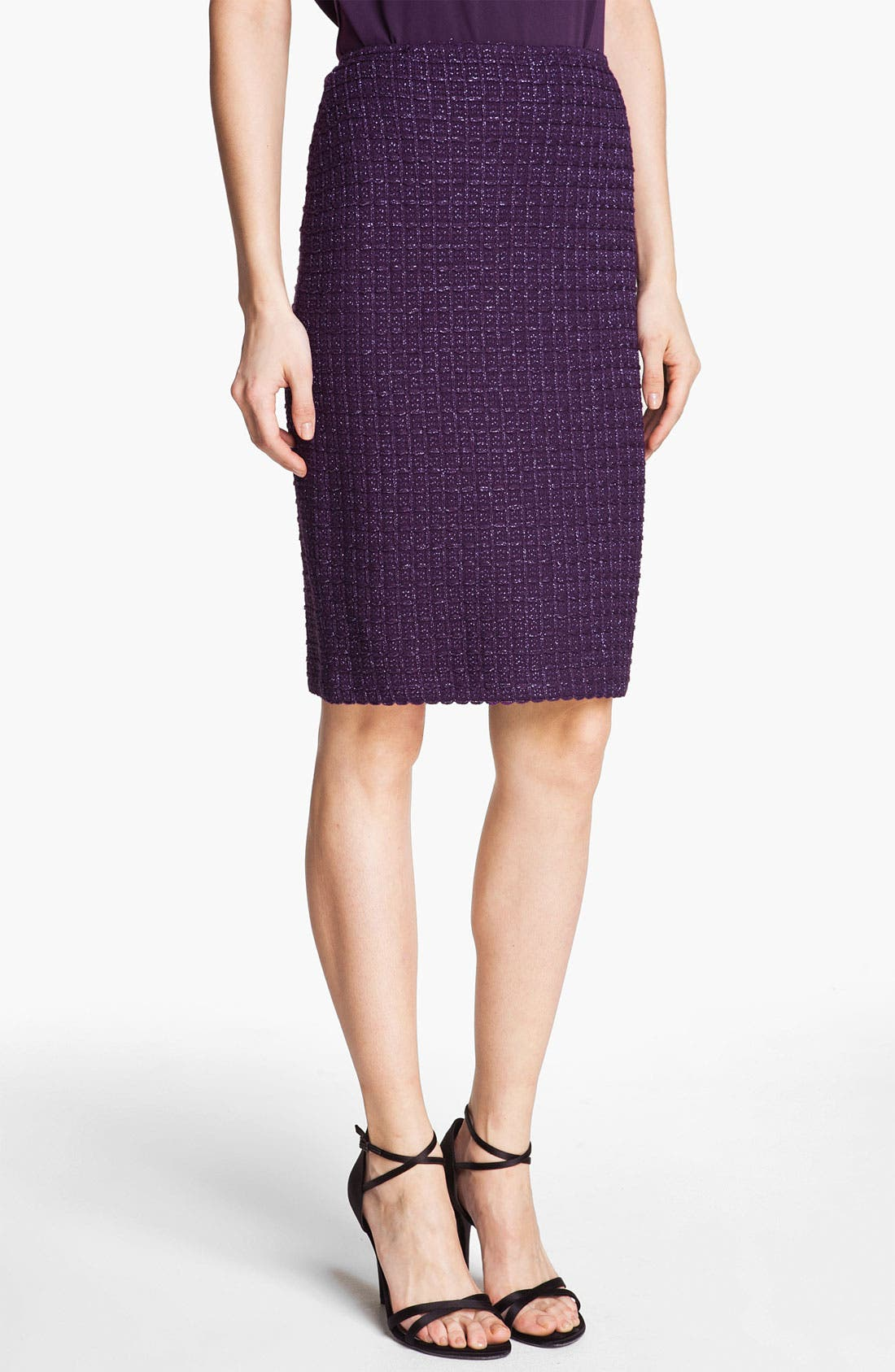 Main Image - St. John Collection Shimmer Tweed Pencil Skirt