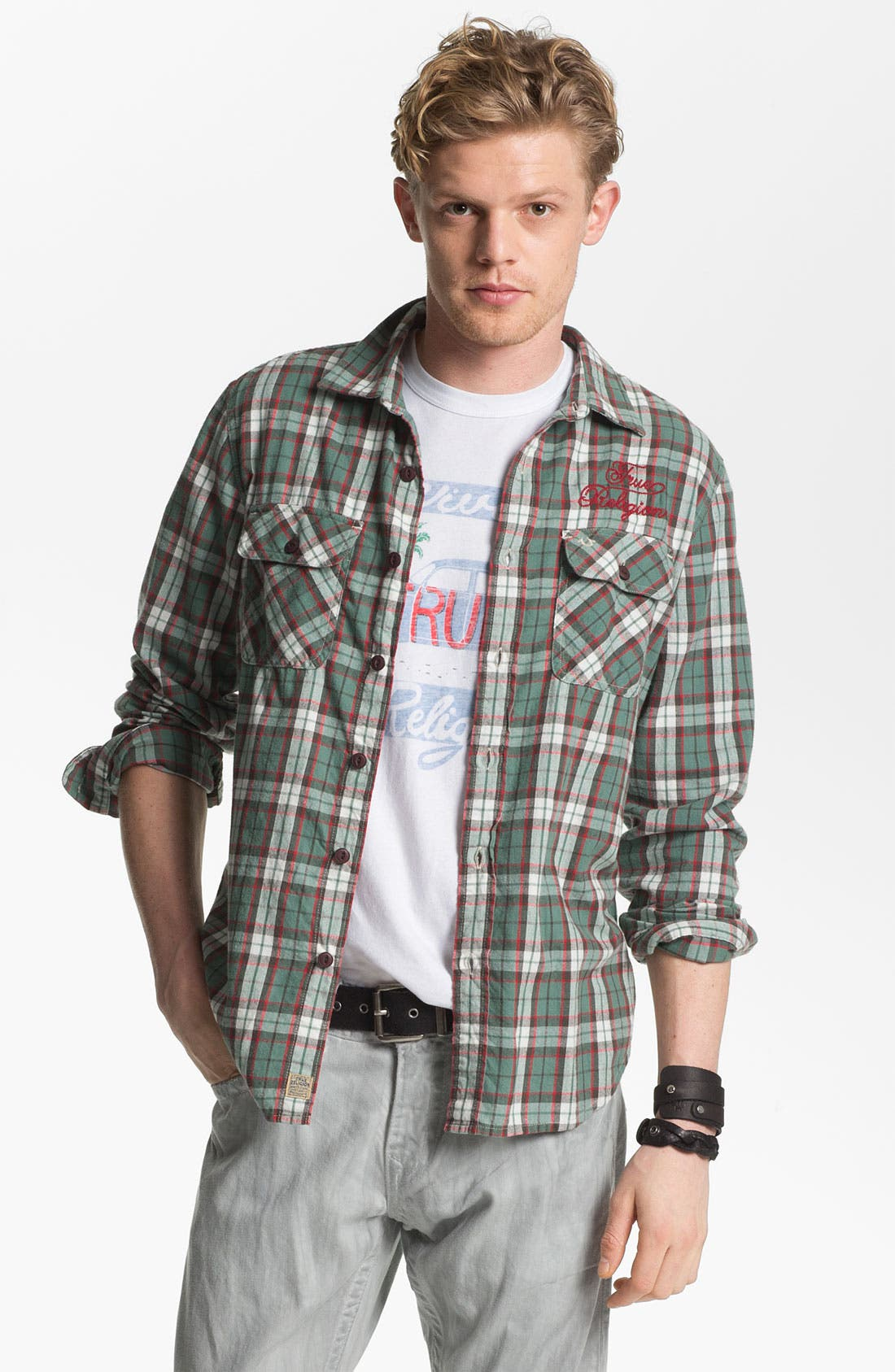 Alternate Image 1 Selected - True Religion Brand Jeans 'Service' Plaid Flannel Shirt