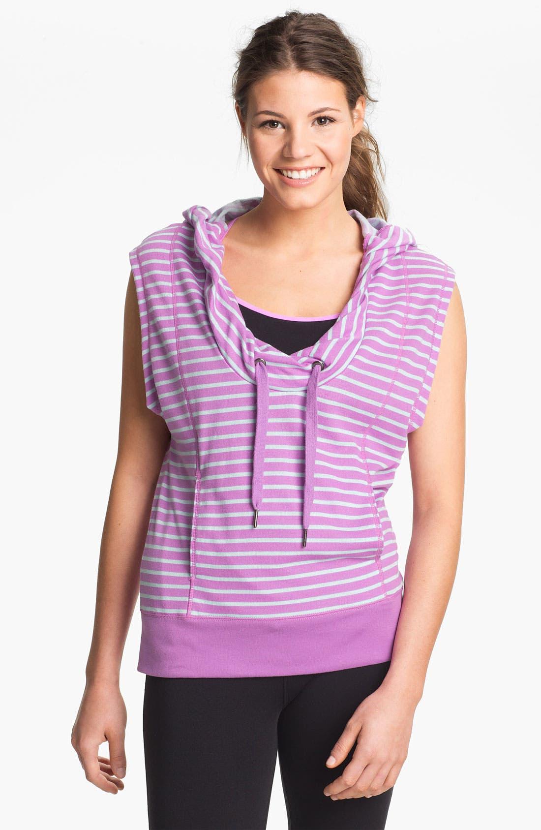 Main Image - Unit-Y 'Cross Hook' Stripe Hooded Pullover