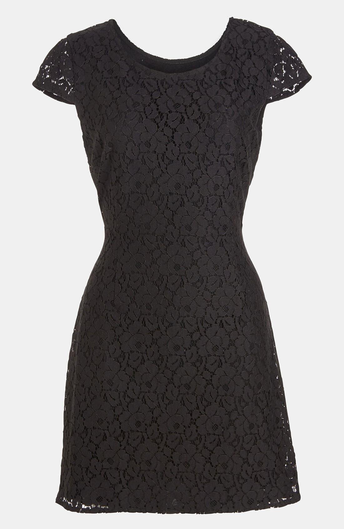 Alternate Image 2  - RBL Open Back Lace Dress