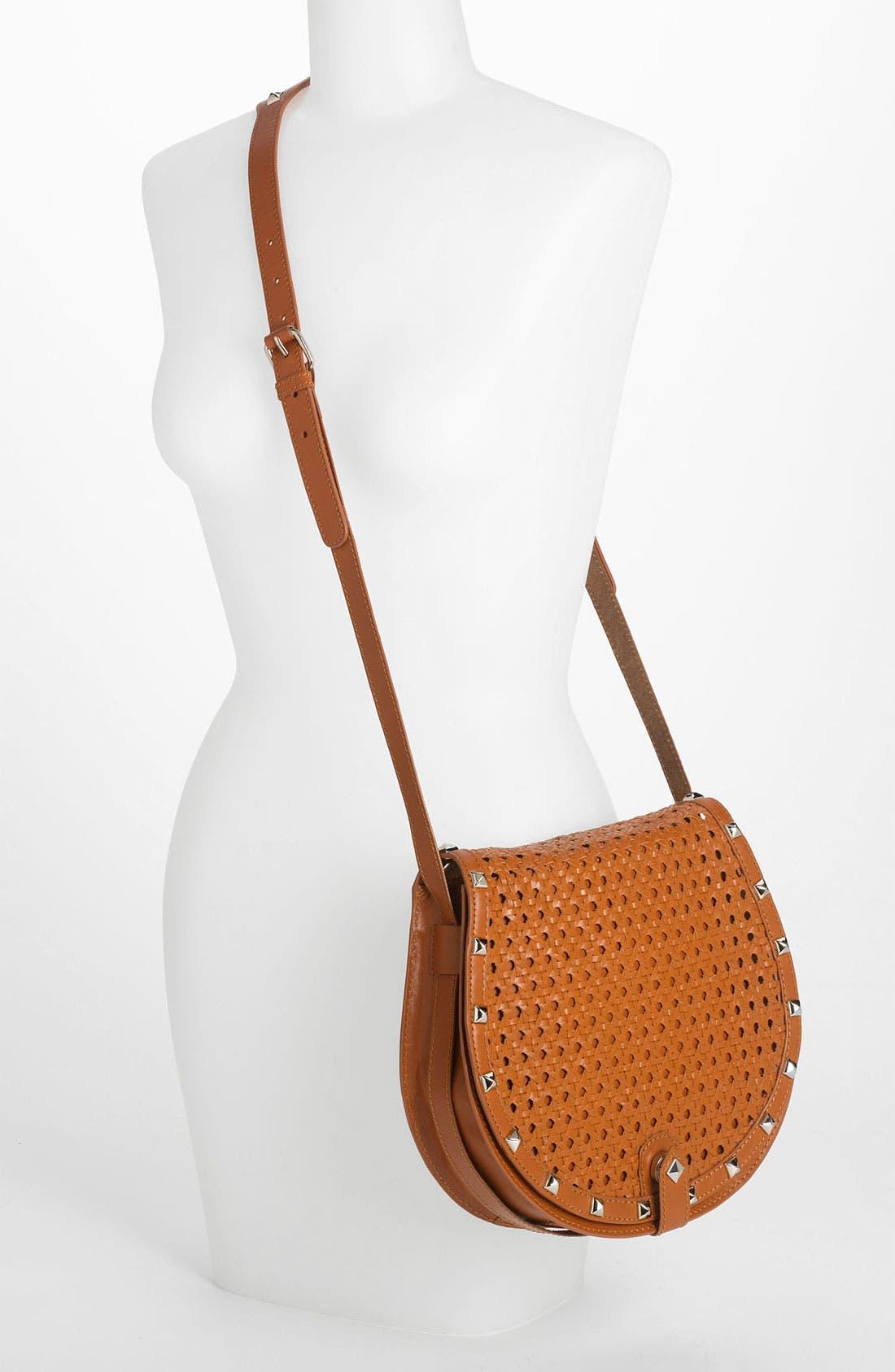 Alternate Image 2  - Rebecca Minkoff 'Skylar - Wicker Woven' Leather Crossbody Bag