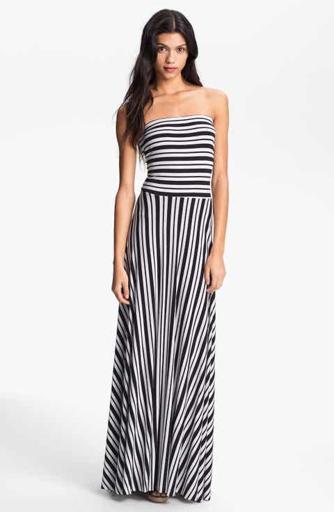 Felicity Coco Stripe Strapless Maxi Dress Nordstrom Exclusive