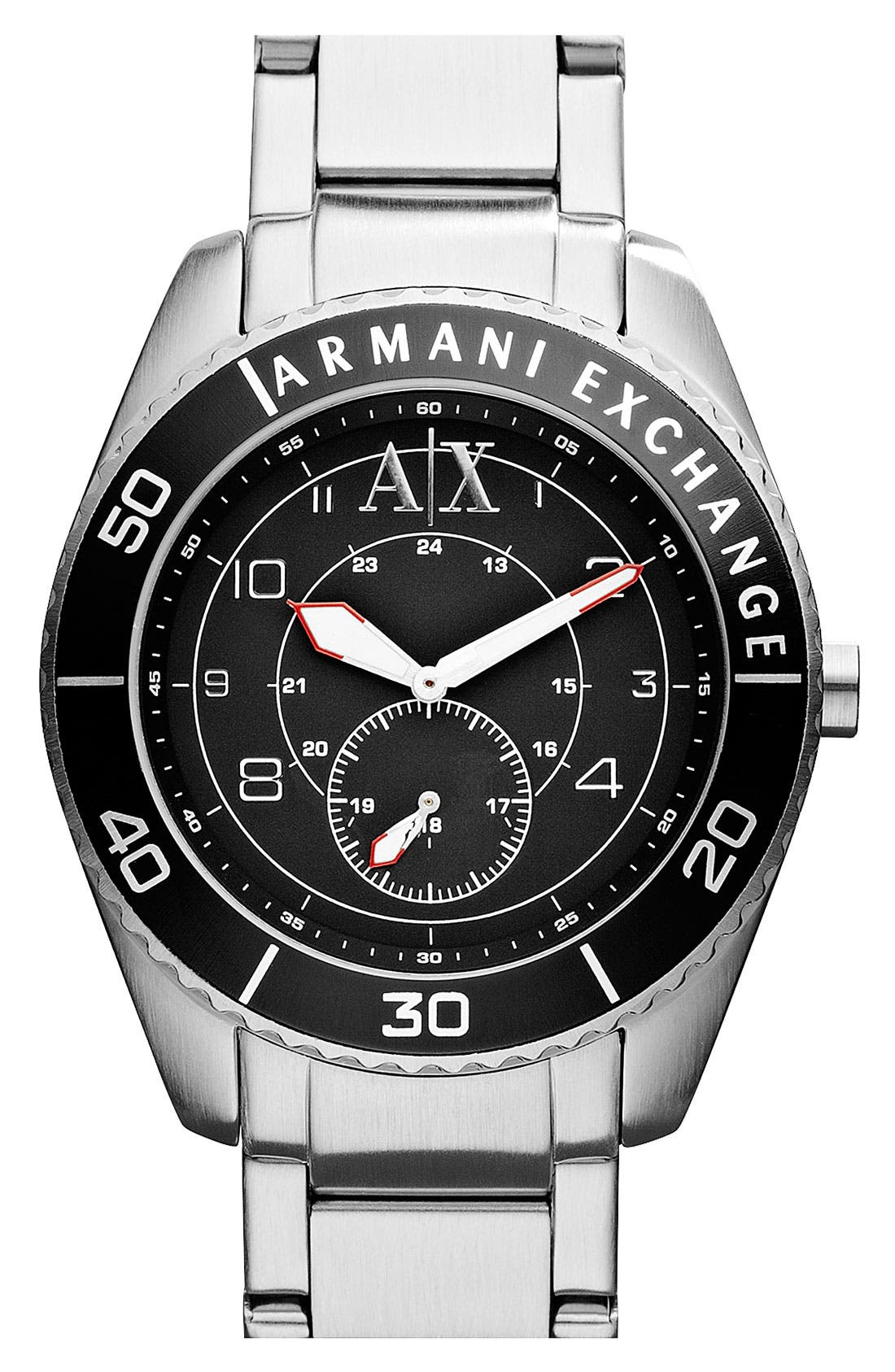 Alternate Image 1 Selected - AX Armani Exchange Round Bracelet Watch