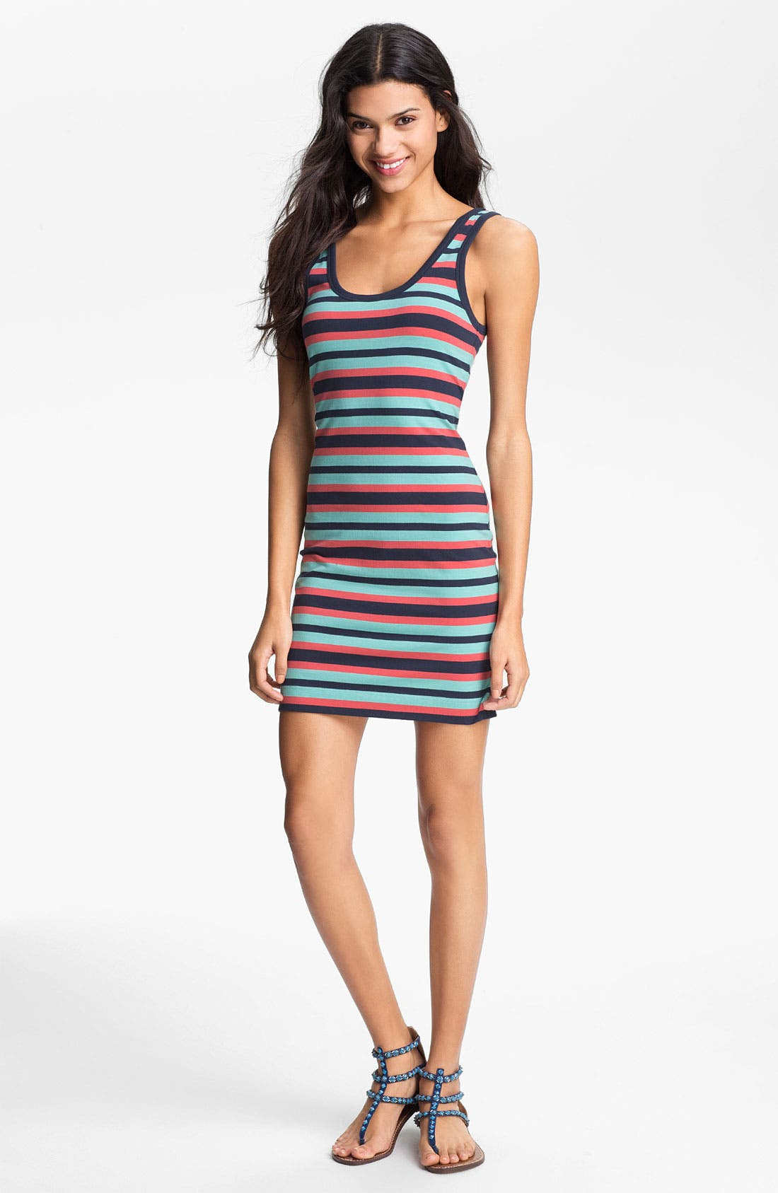 Main Image - French Connection Stripe Tank Dress