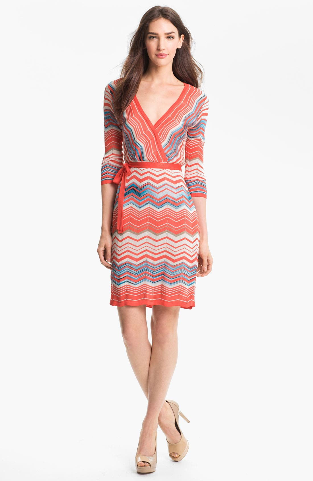 Main Image - Trina Turk 'Harbor' Faux Wrap Sweater Dress