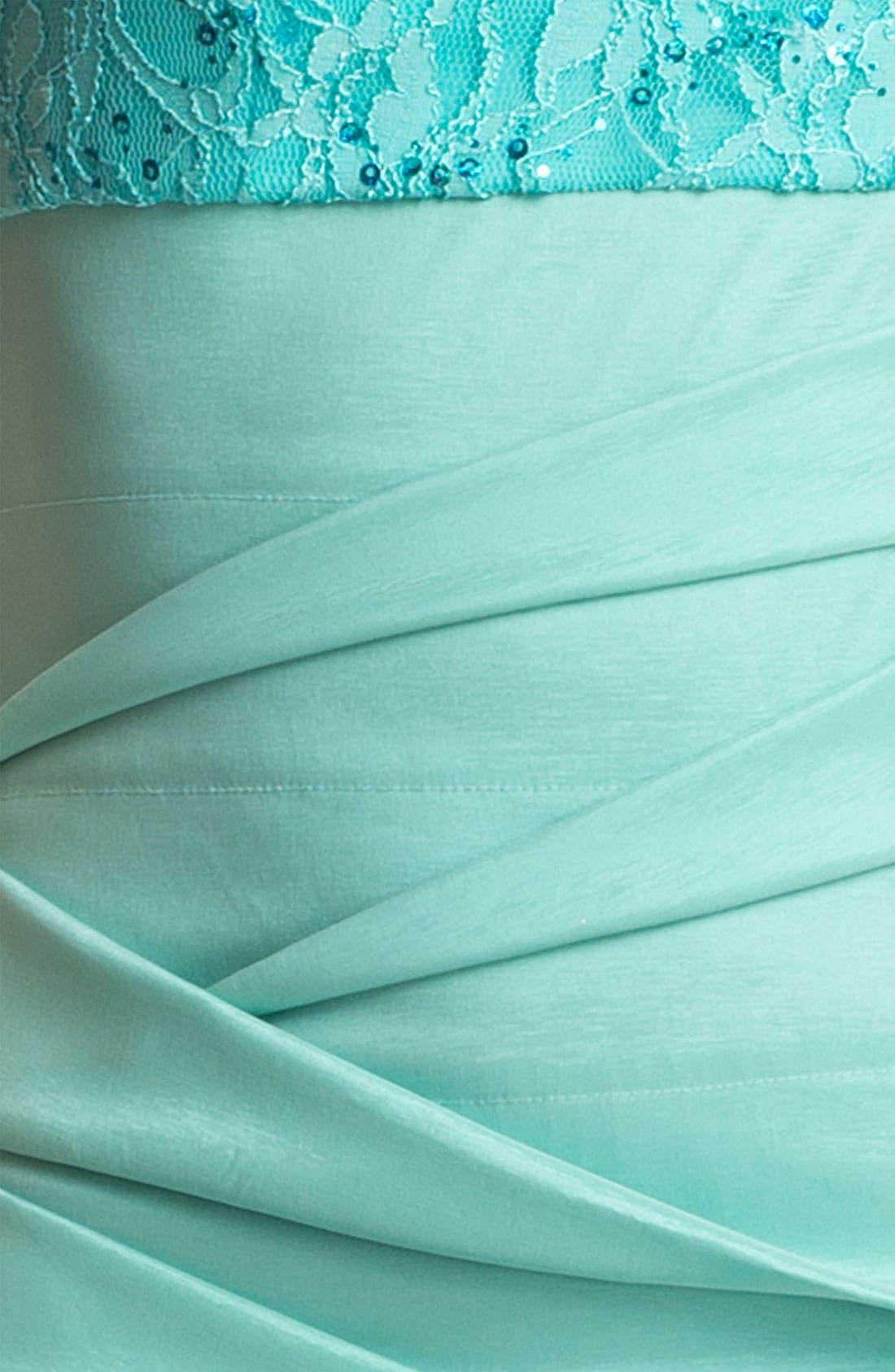 Alternate Image 3  - Hailey Logan Lace & Sequin Body-Con Dress (Juniors) (Online Exclusive)