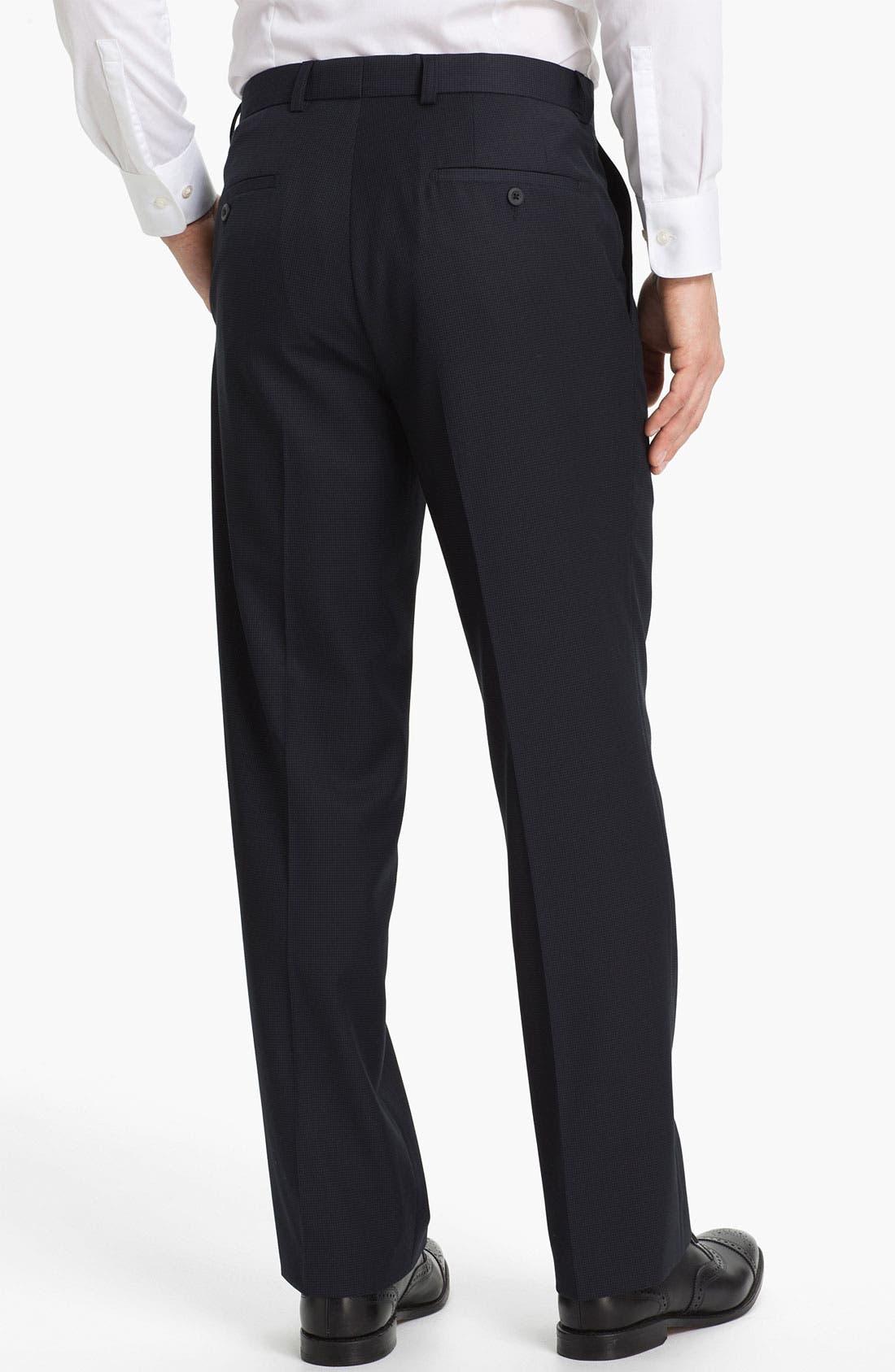 Alternate Image 2  - Linea Naturale 'Fancy' Flat Front Microfiber Trousers