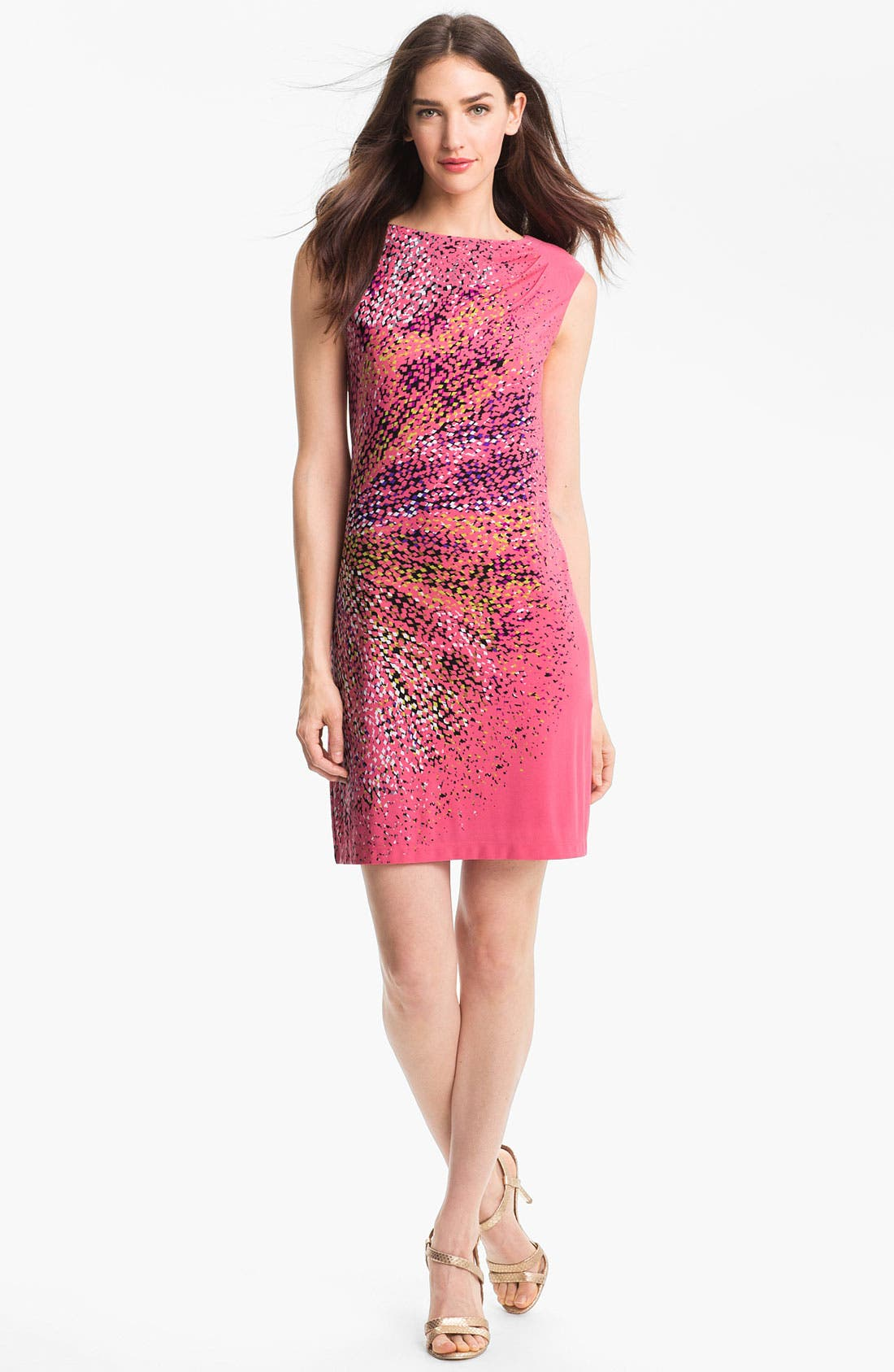 Main Image - Maggy London Print Jersey Shift Dress