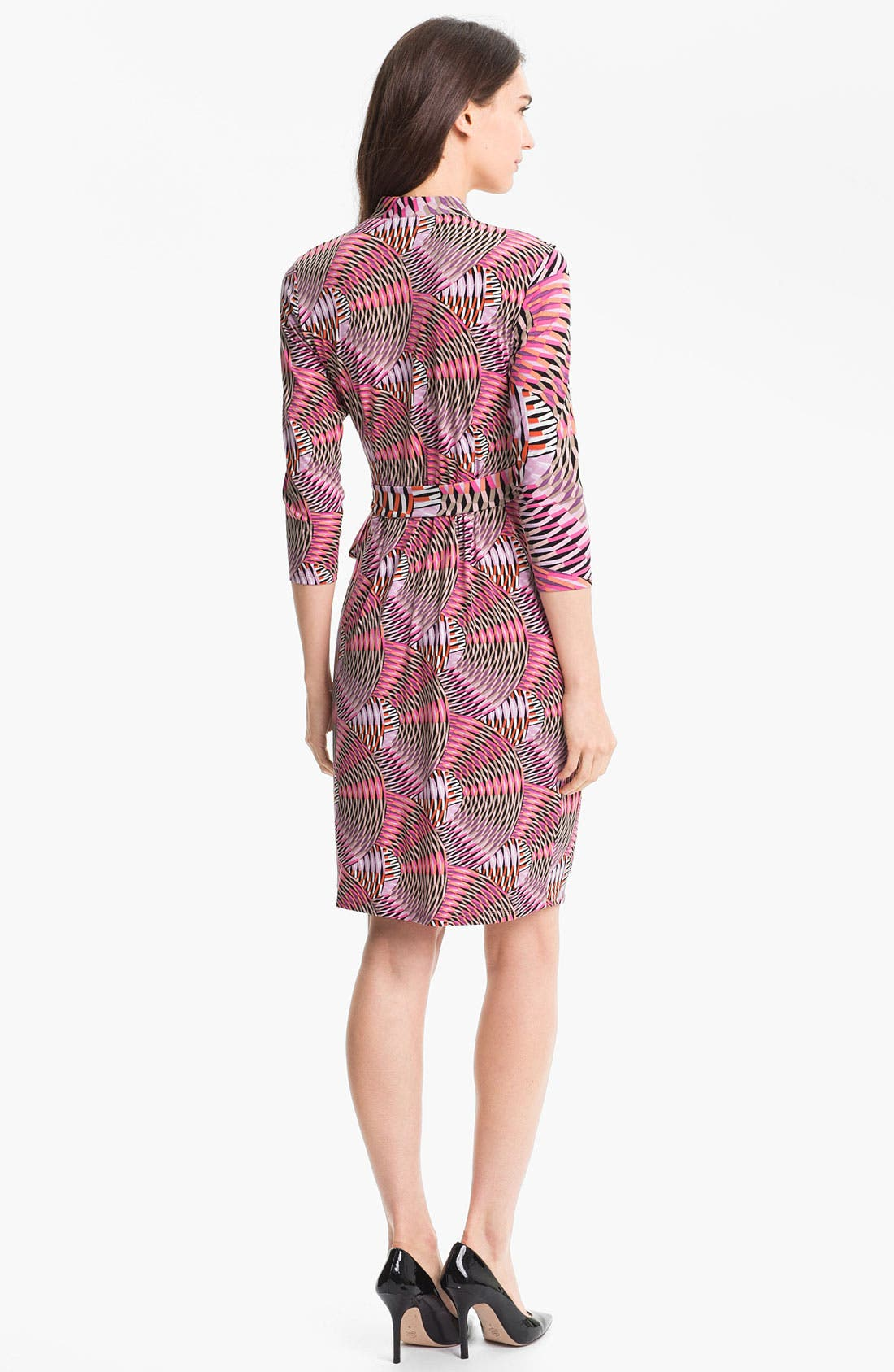 Alternate Image 2  - Maggy London Print Jersey Faux Wrap Dress