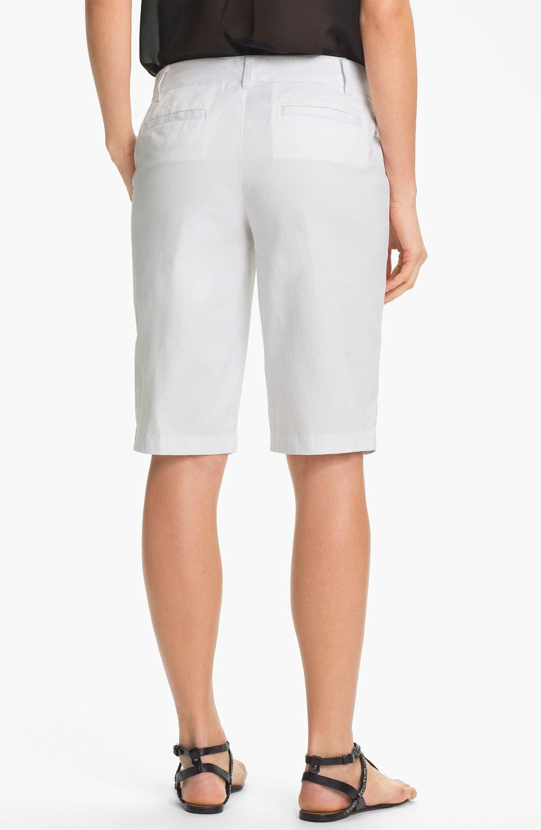 Alternate Image 2  - Caslon® Twill Bermuda Shorts (Regular & Petite)