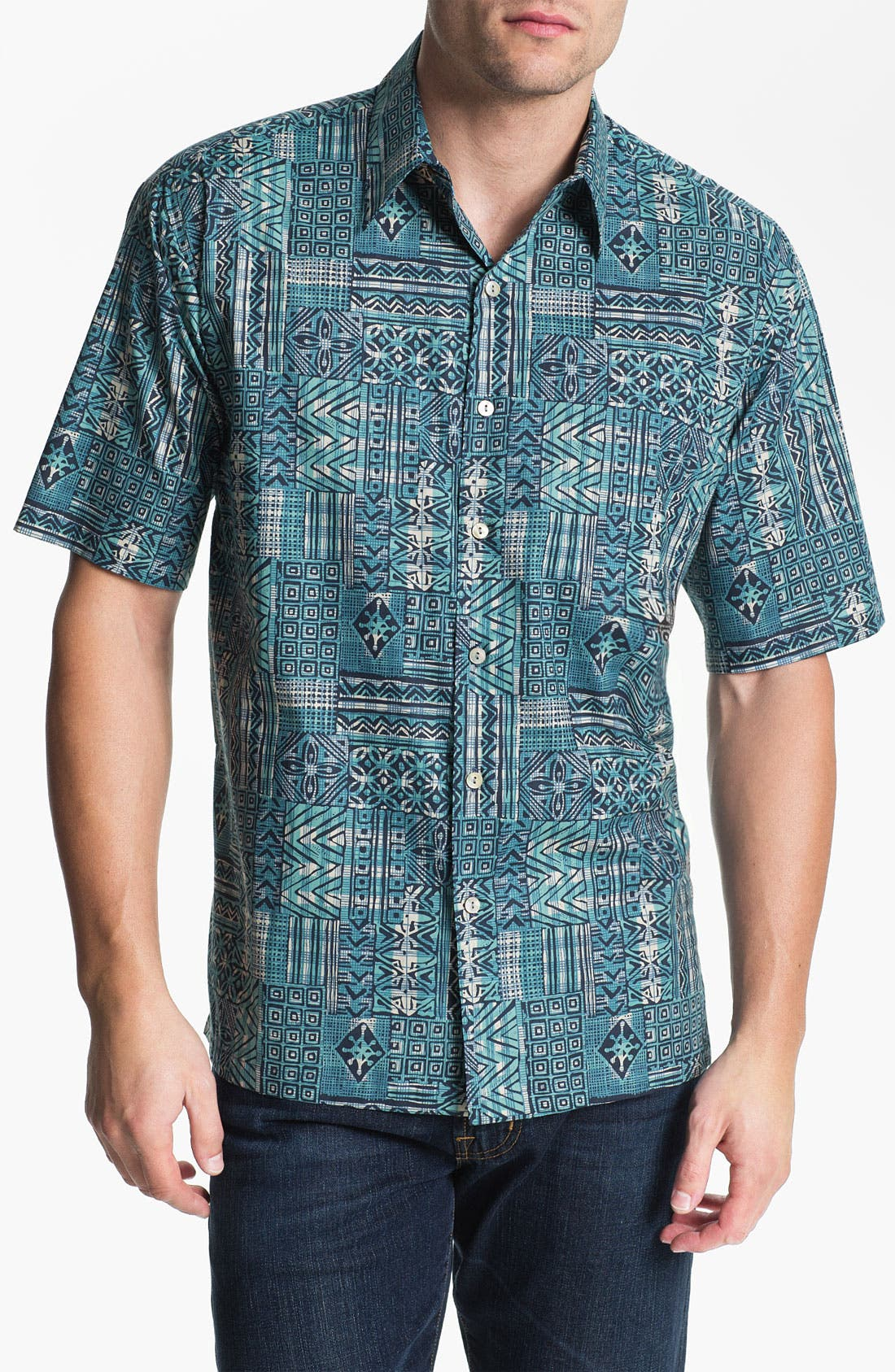 Alternate Image 1 Selected - Tori Richard 'Gridlock' Cotton Campshirt (Big & Tall)