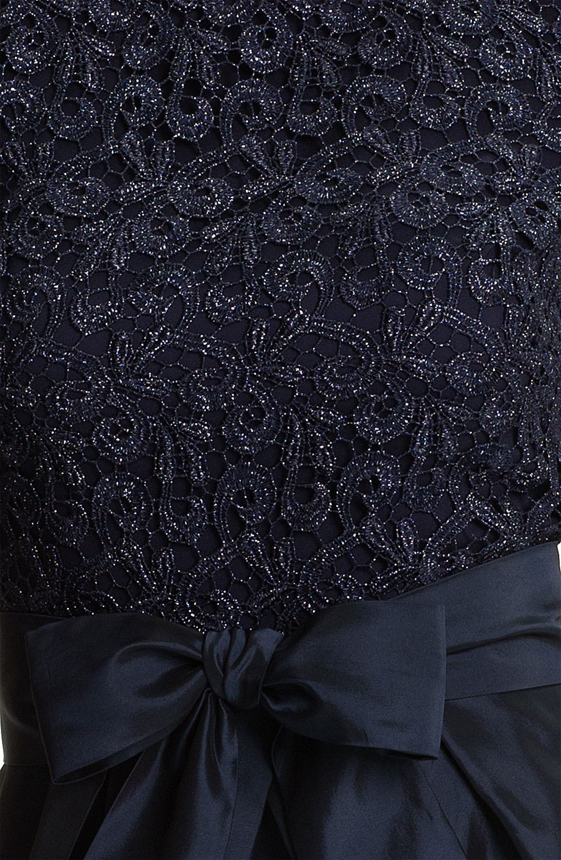 Alternate Image 3  - Suzi Chin for Maggy Boutique Lace & Taffeta Dress (Petite)