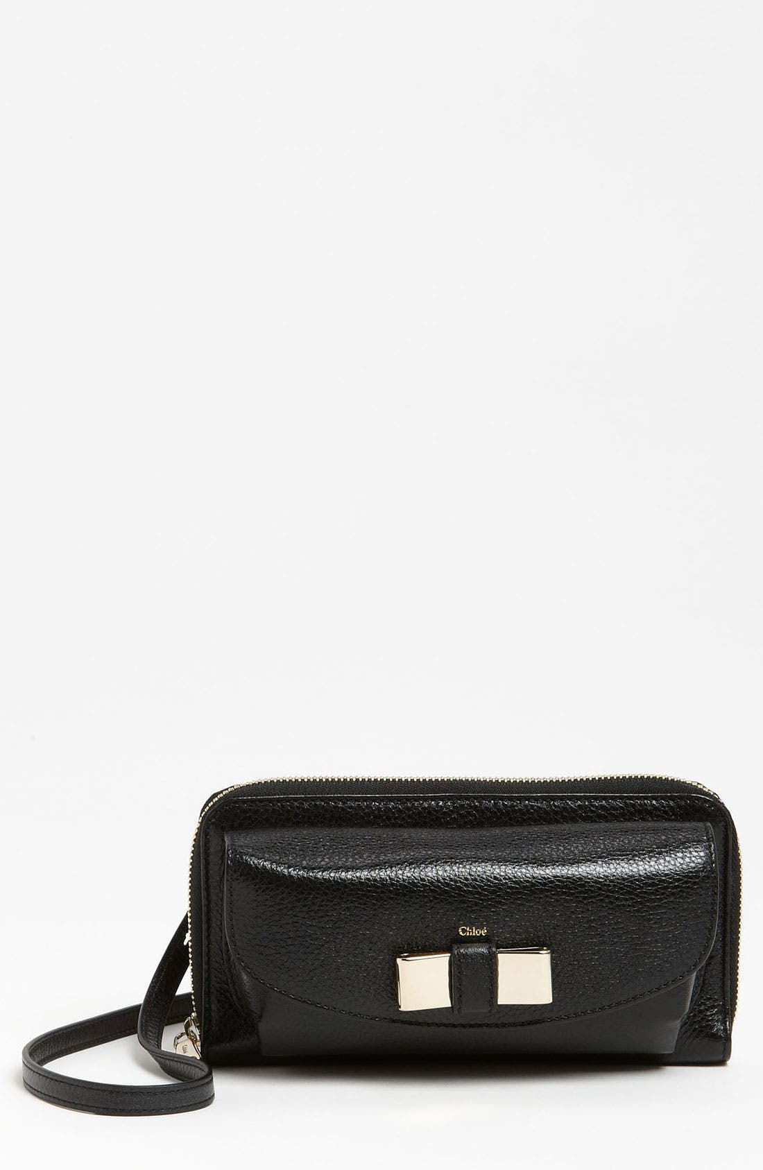 Main Image - Chloé 'Lily - Long' Sunglasses Case & Crossbody Wallet
