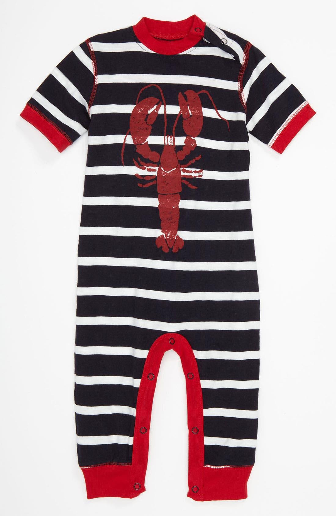 Alternate Image 1 Selected - Hatley 'Lobster' Stripe Pajamas (Infant)