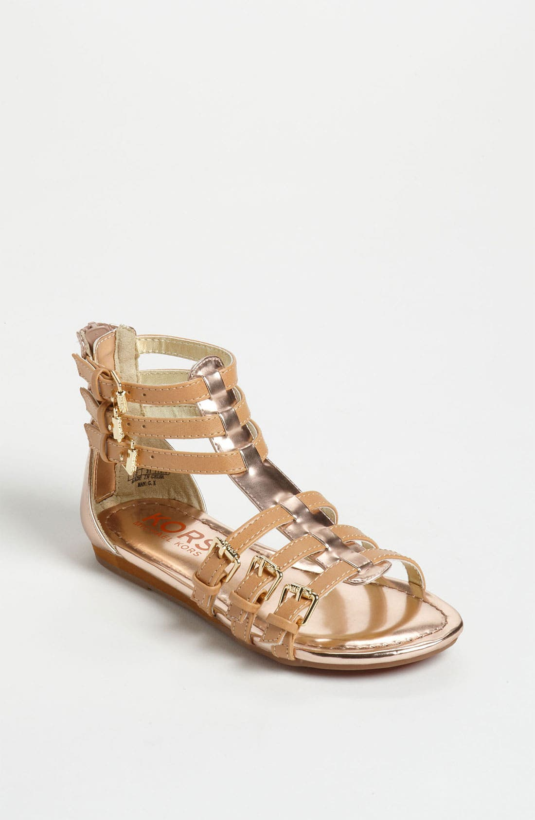 Alternate Image 1 Selected - KORS Michael Kors 'Grenadine' Gladiator Sandal (Toddler, Little Kid & Big Kid)