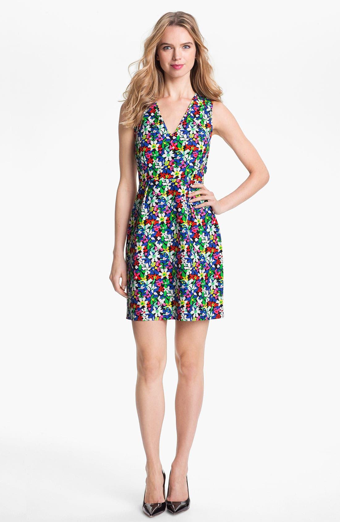Alternate Image 1 Selected - kate spade new york 'mira' cotton & silk sheath dress