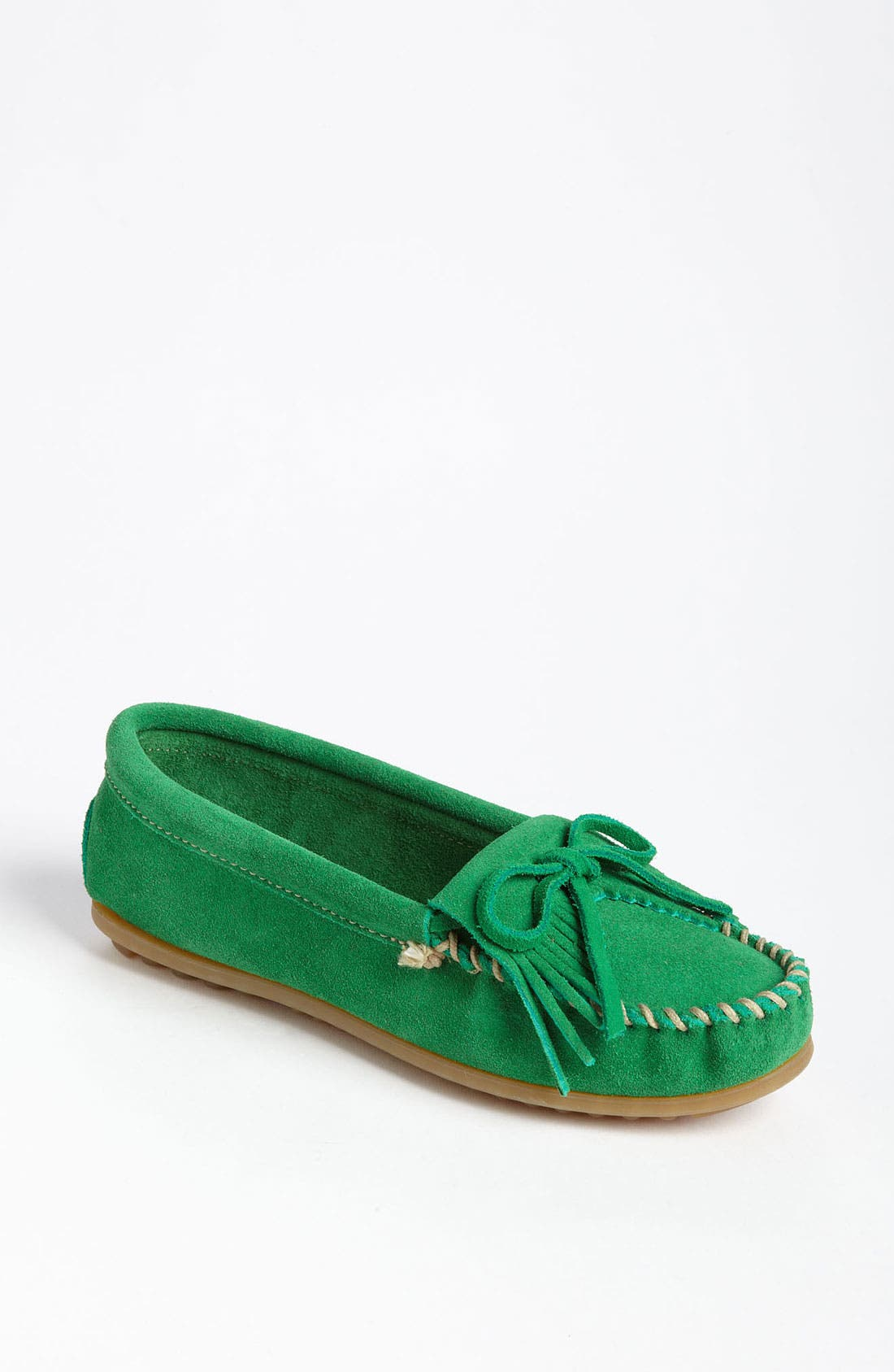 Main Image - Minnetonka 'Kilty' Suede Moccasin (Nordstrom Exclusive Color)