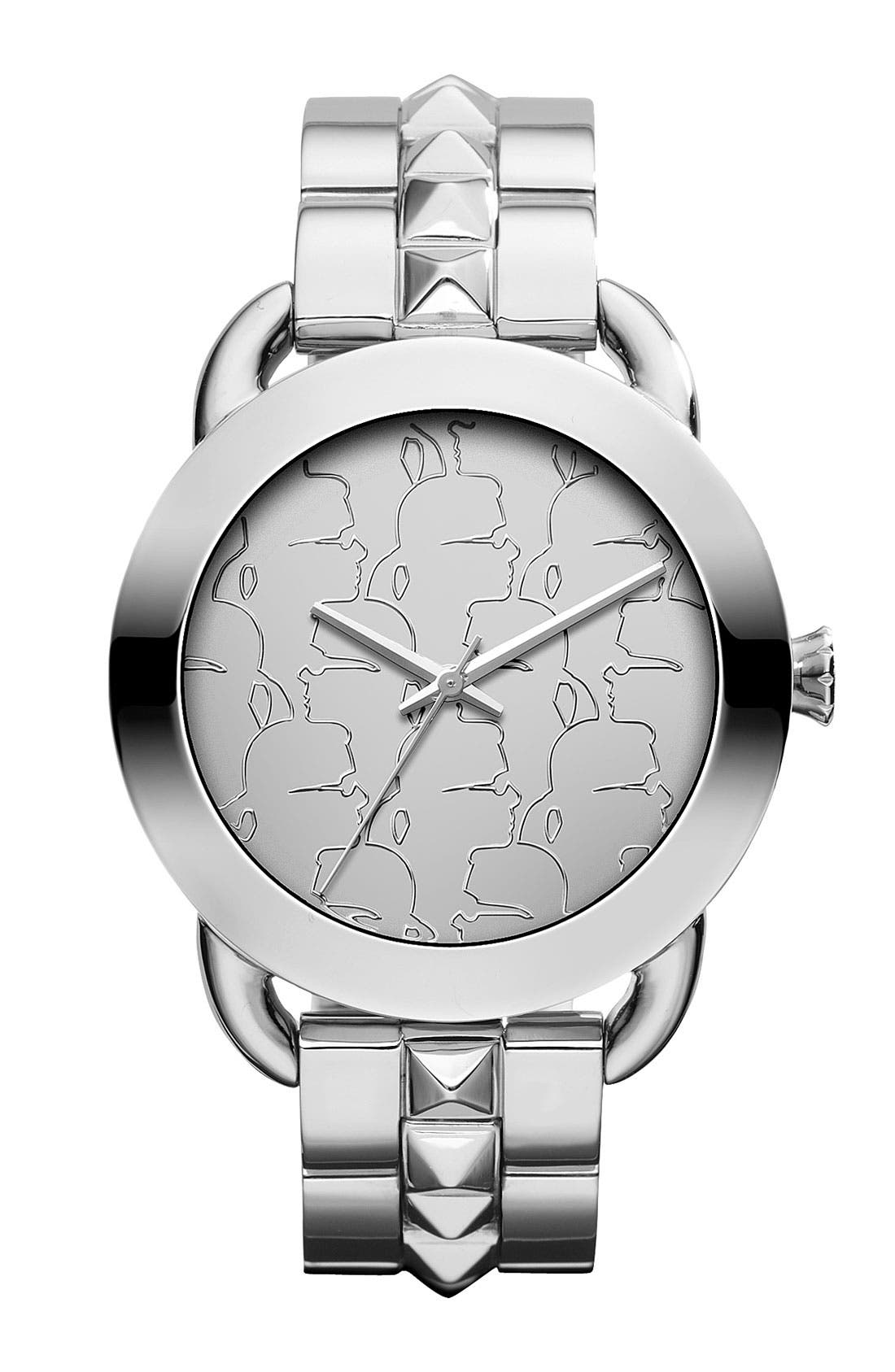 Alternate Image 1 Selected - KARL LAGERFELD 'Pop' Bracelet Watch, 40mm