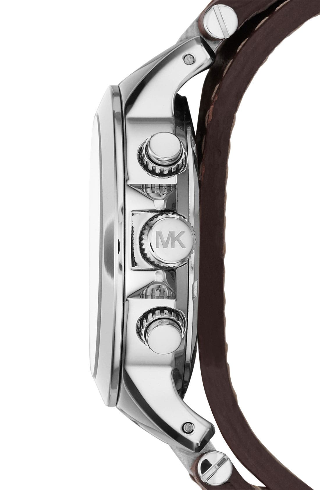 Alternate Image 2  - Michael Kors 'Peyton' Double Wrap Leather Strap Watch