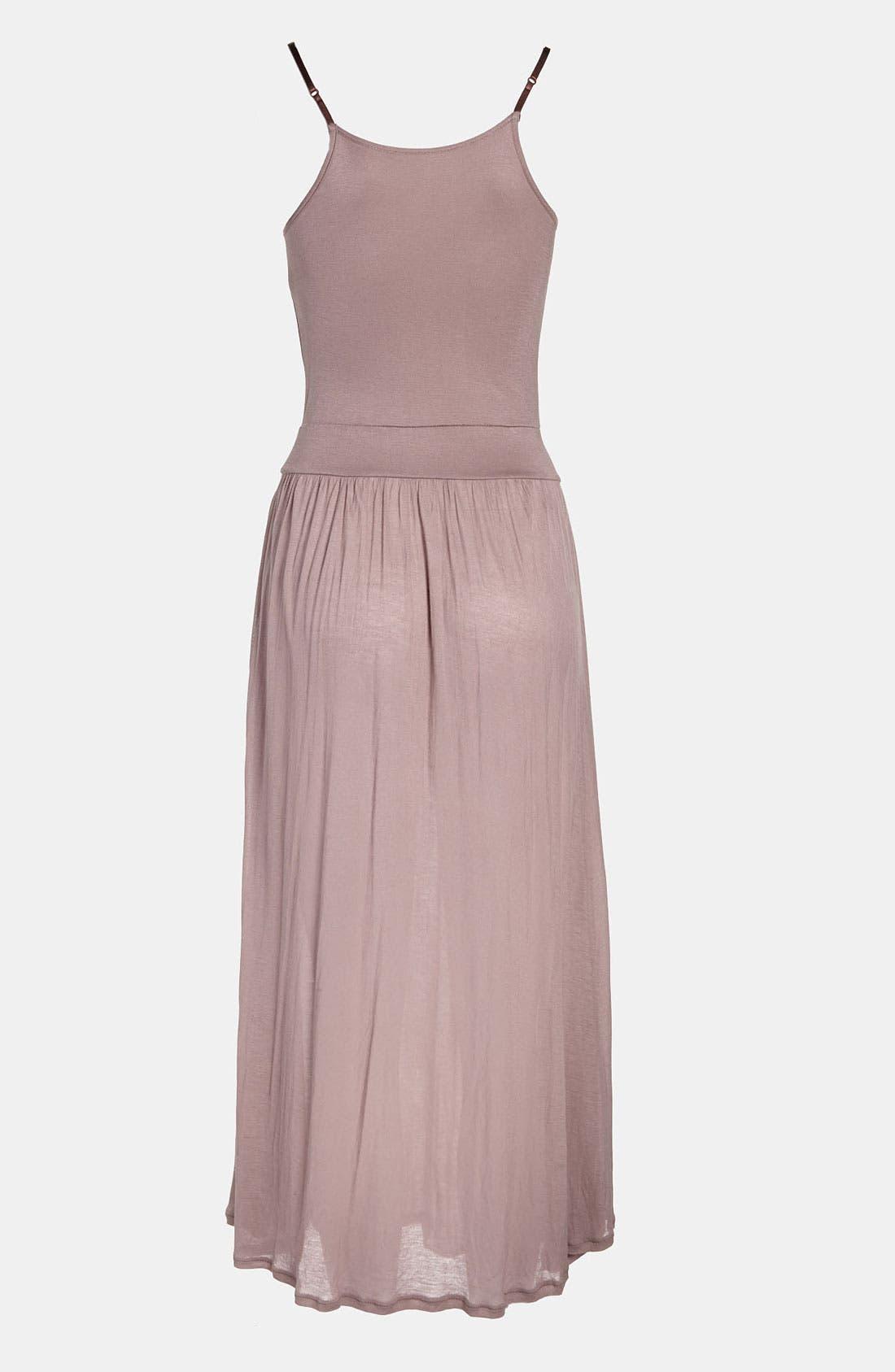 Alternate Image 2  - Tildon Sheer Knit Slip Dress