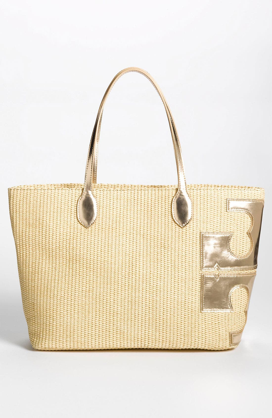 Alternate Image 4  - Tory Burch 'Metallic Stacked T' Tote, Large