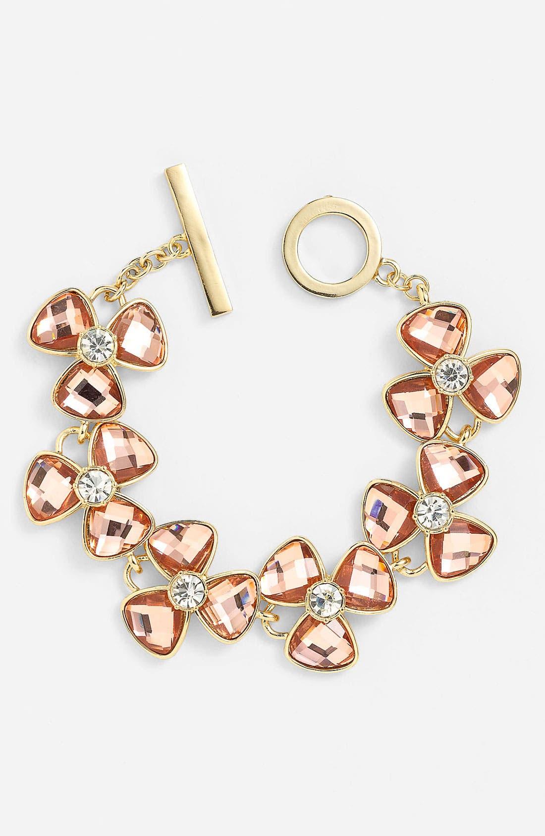 Alternate Image 1 Selected - Anne Klein Floral Line Bracelet