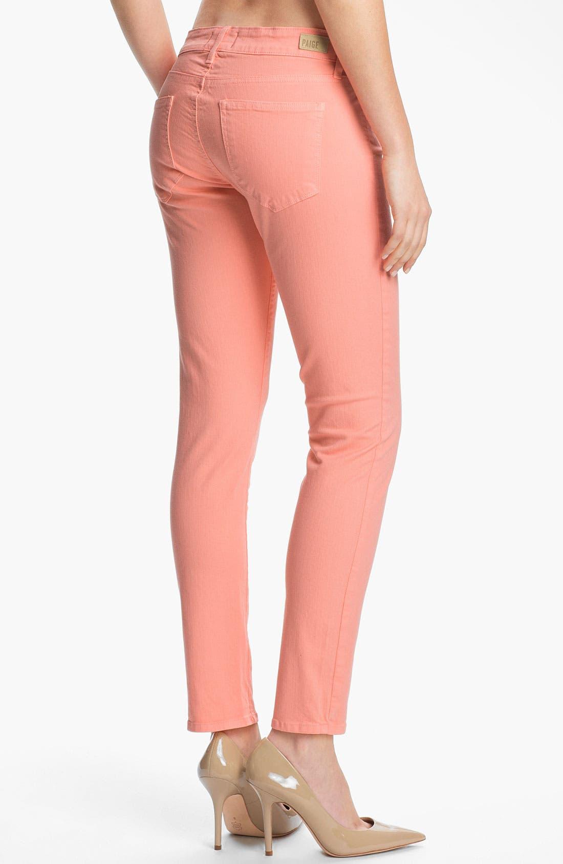 Alternate Image 2  - Paige Denim 'Skyline' Skinny Stretch Ankle Jeans (Flamingo)