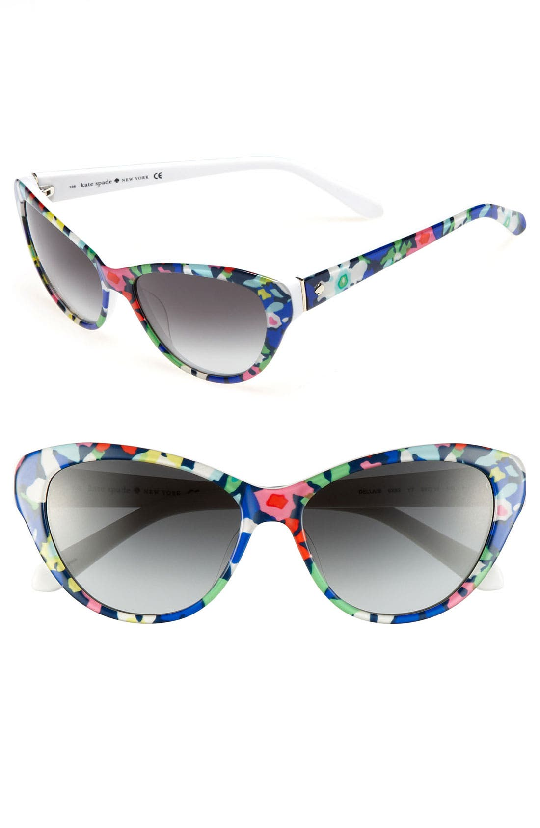 'della' 55mm sunglasses,                         Main,                         color, Margerita Floral