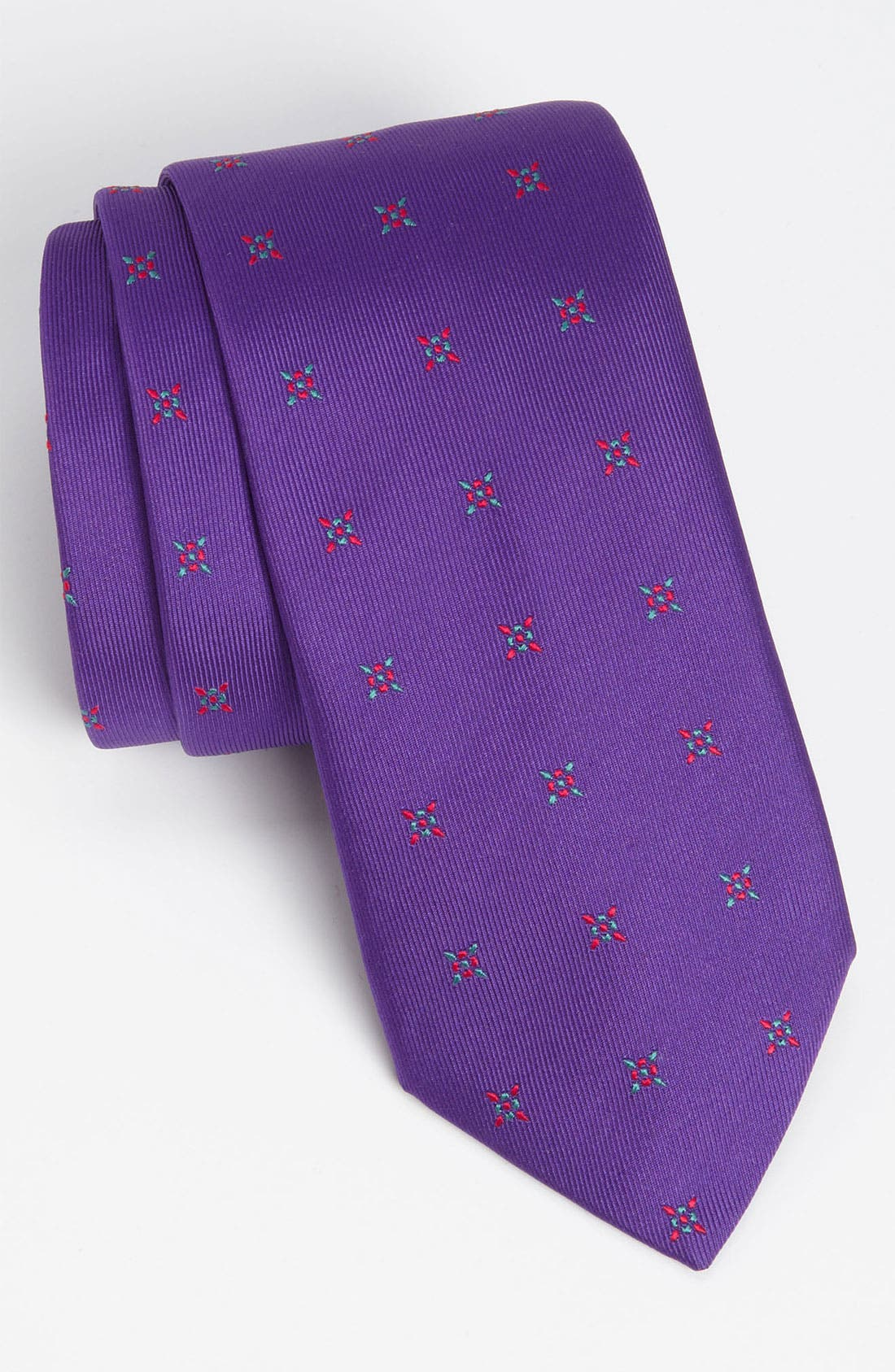 Main Image - Thomas Pink 'Castle Flower' Woven Silk Tie