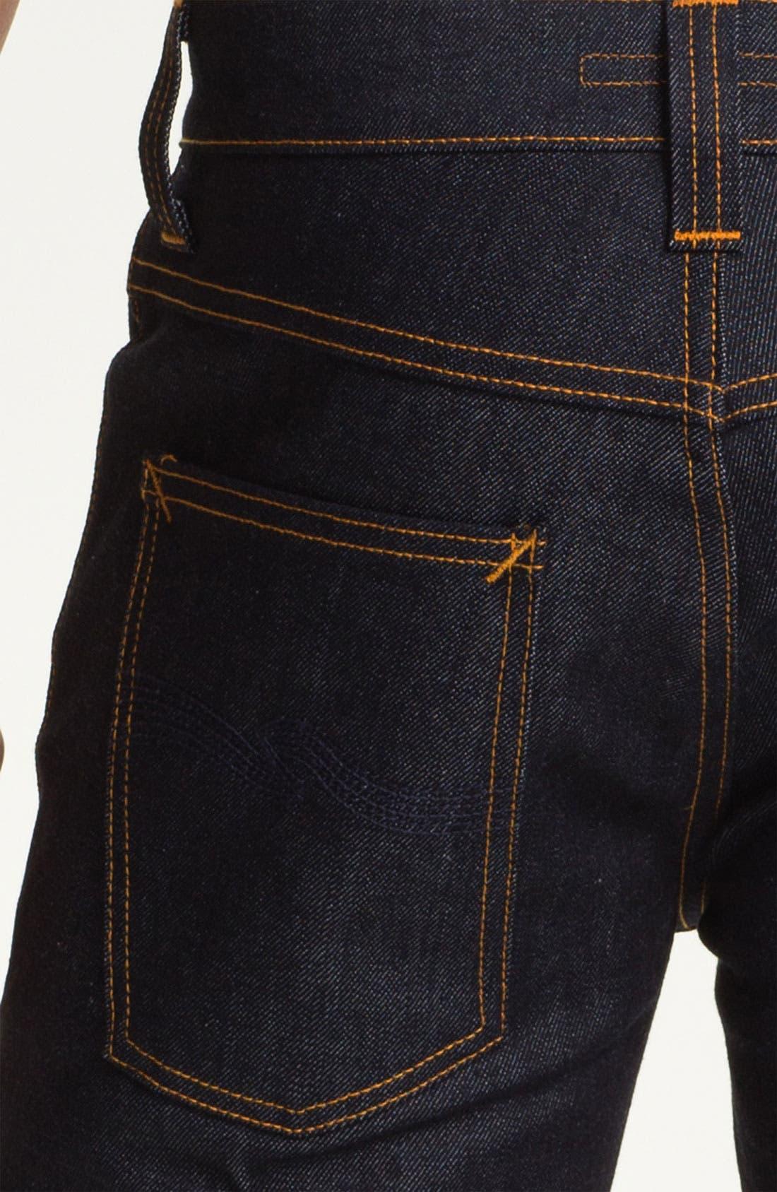 Alternate Image 4  - Nudie 'Grim Tim' Slim Fit Jeans (Organic Dry Navy)