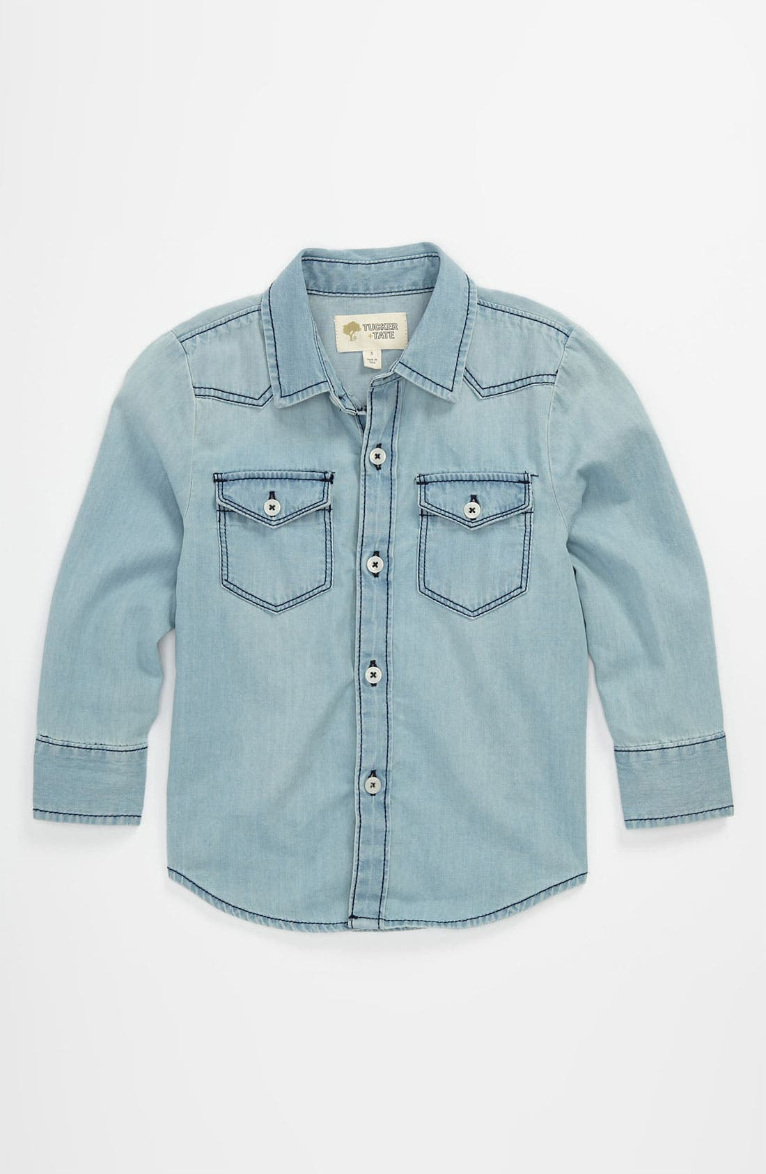 Alternate Image 1 Selected - Tucker + Tate 'Benson' Denim Shirt (Toddler)