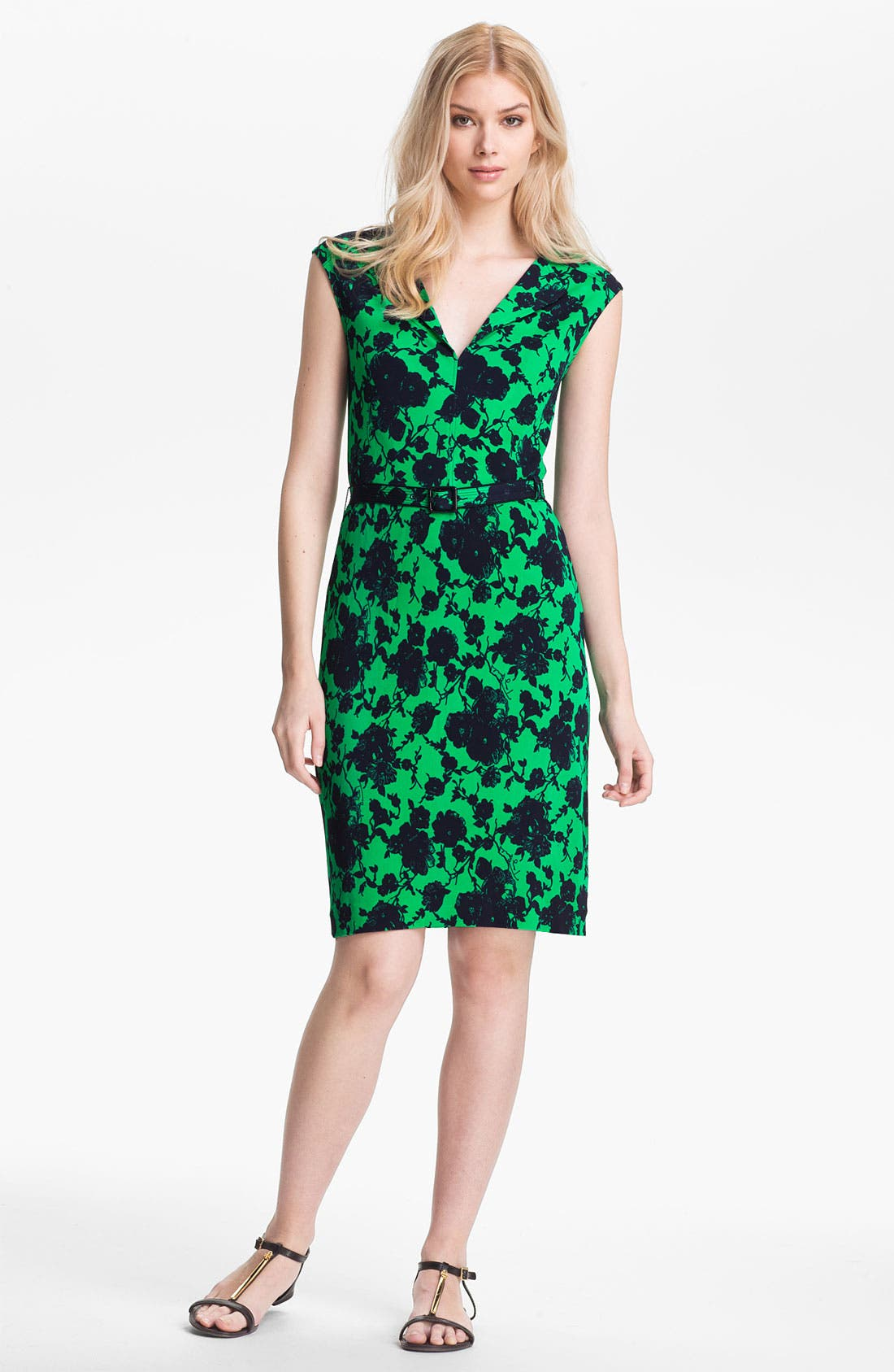 Main Image - Tory Burch 'Willow' Belted Sheath Dress