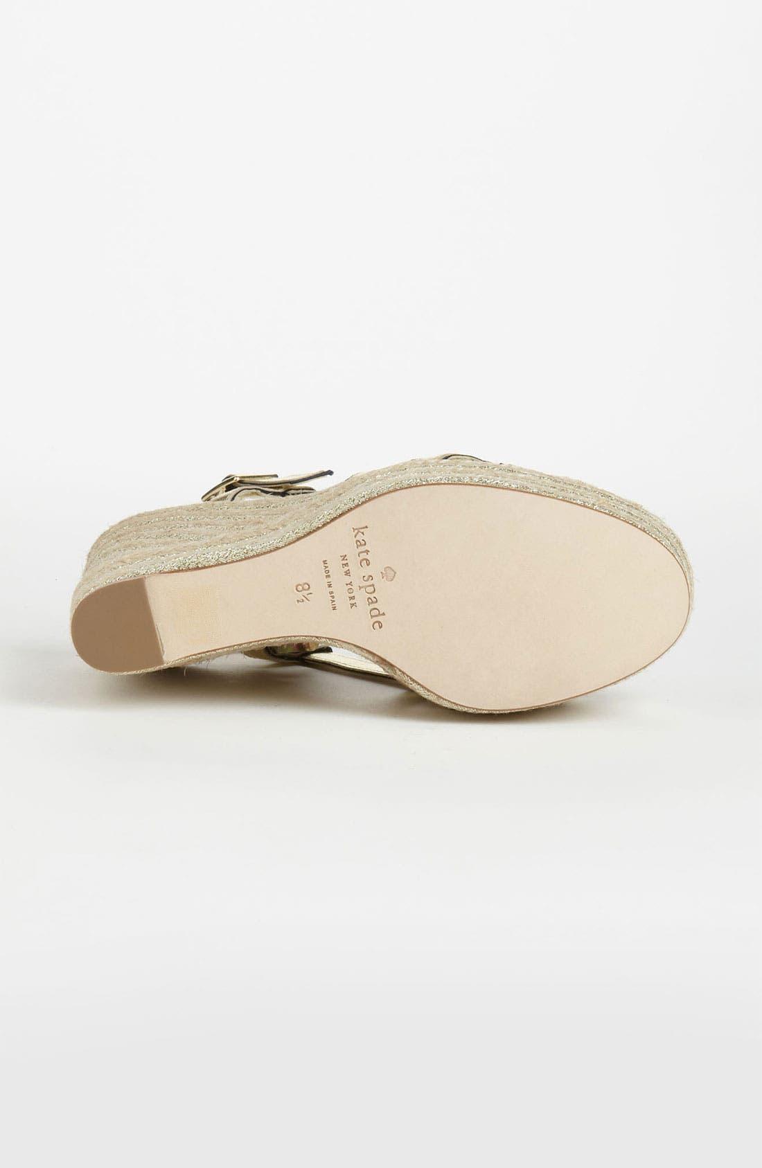 Alternate Image 4  - kate spade new york 'ladan' wedge sandal