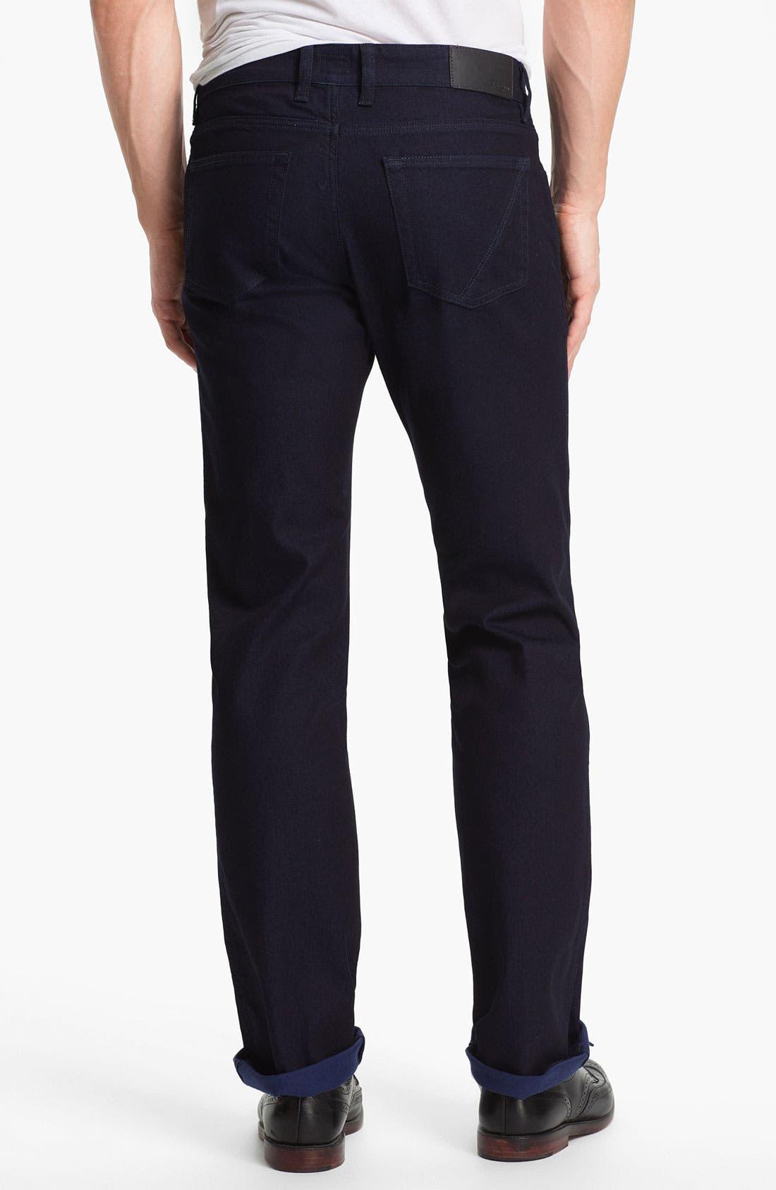Alternate Image 2  - Z Zegna Straight Leg Jeans (Navy)