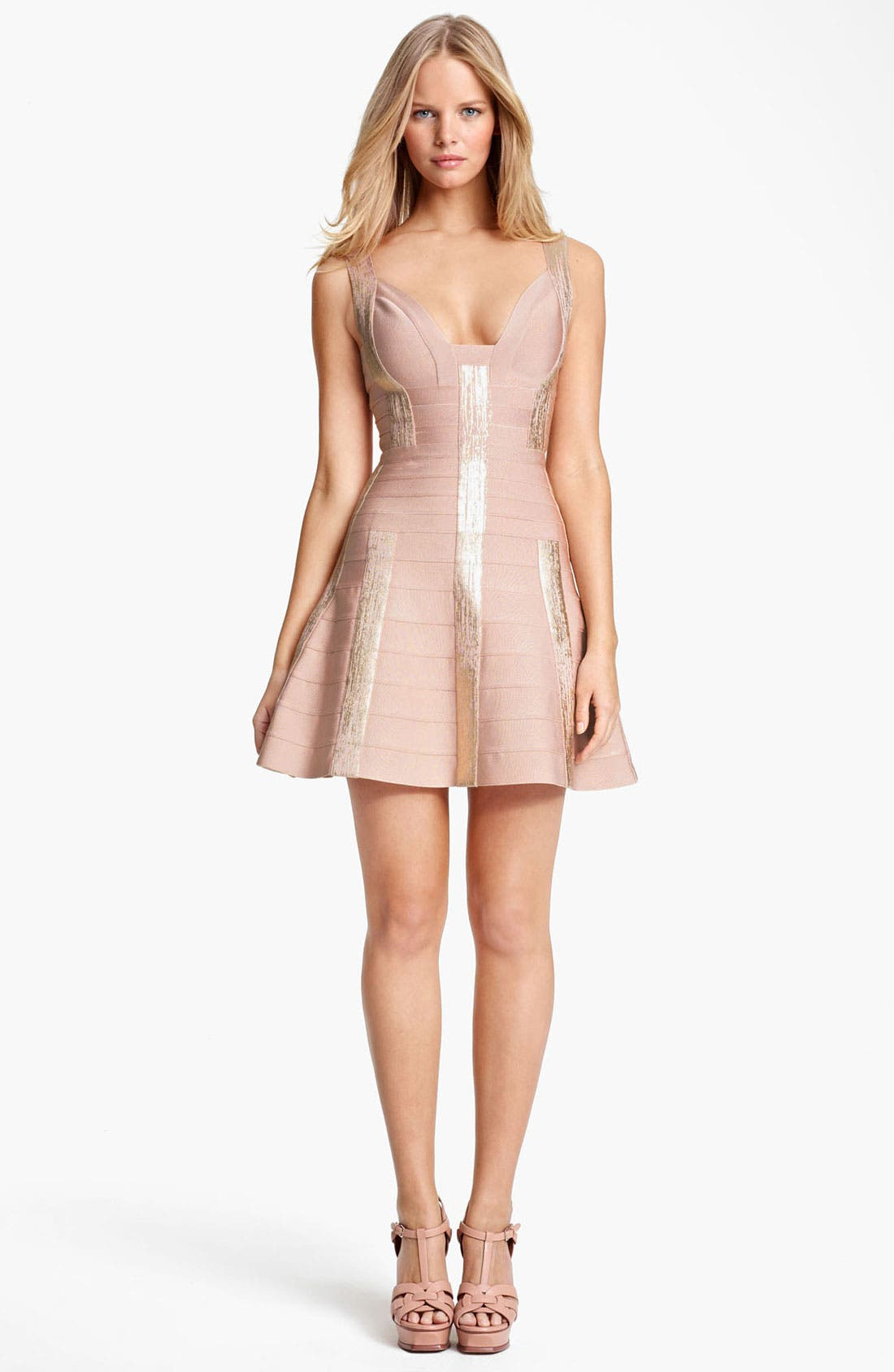 Alternate Image 1 Selected - Herve Leger A-Line Bandage Dress