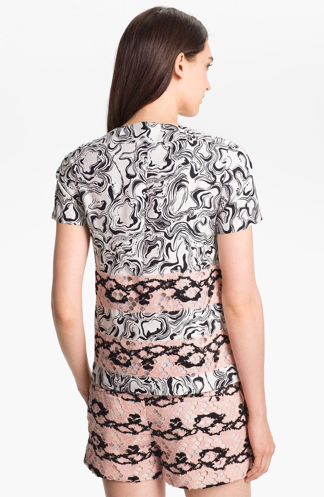 Alternate Image 2  - Diane von Furstenberg 'Blossom' Silk Tee